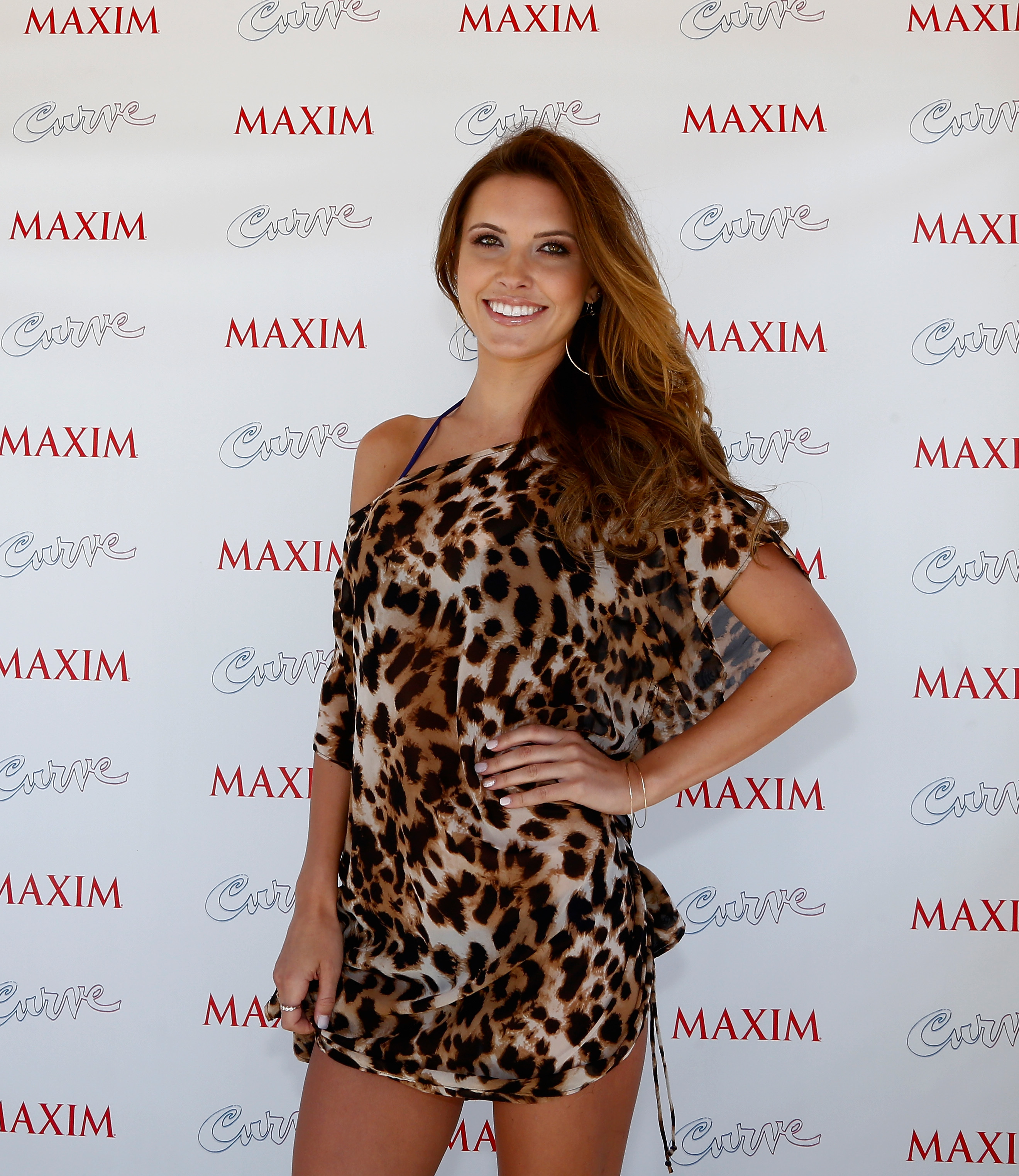 Audrina Patridge leopard bikini cover up