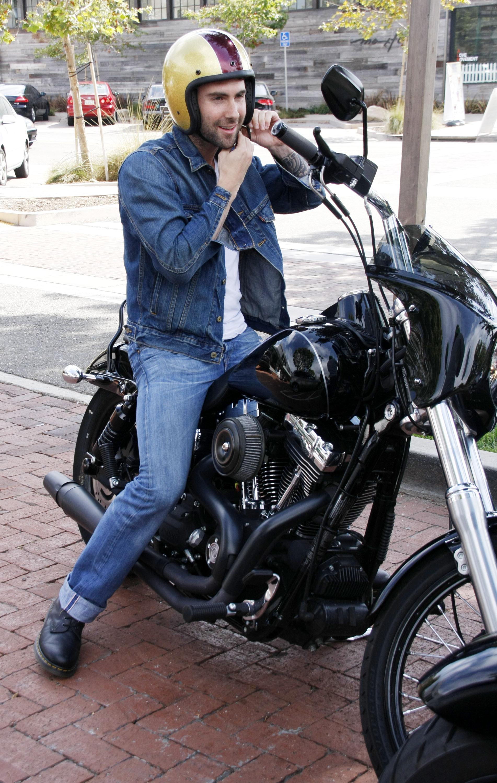 Adam Levine motorcycle