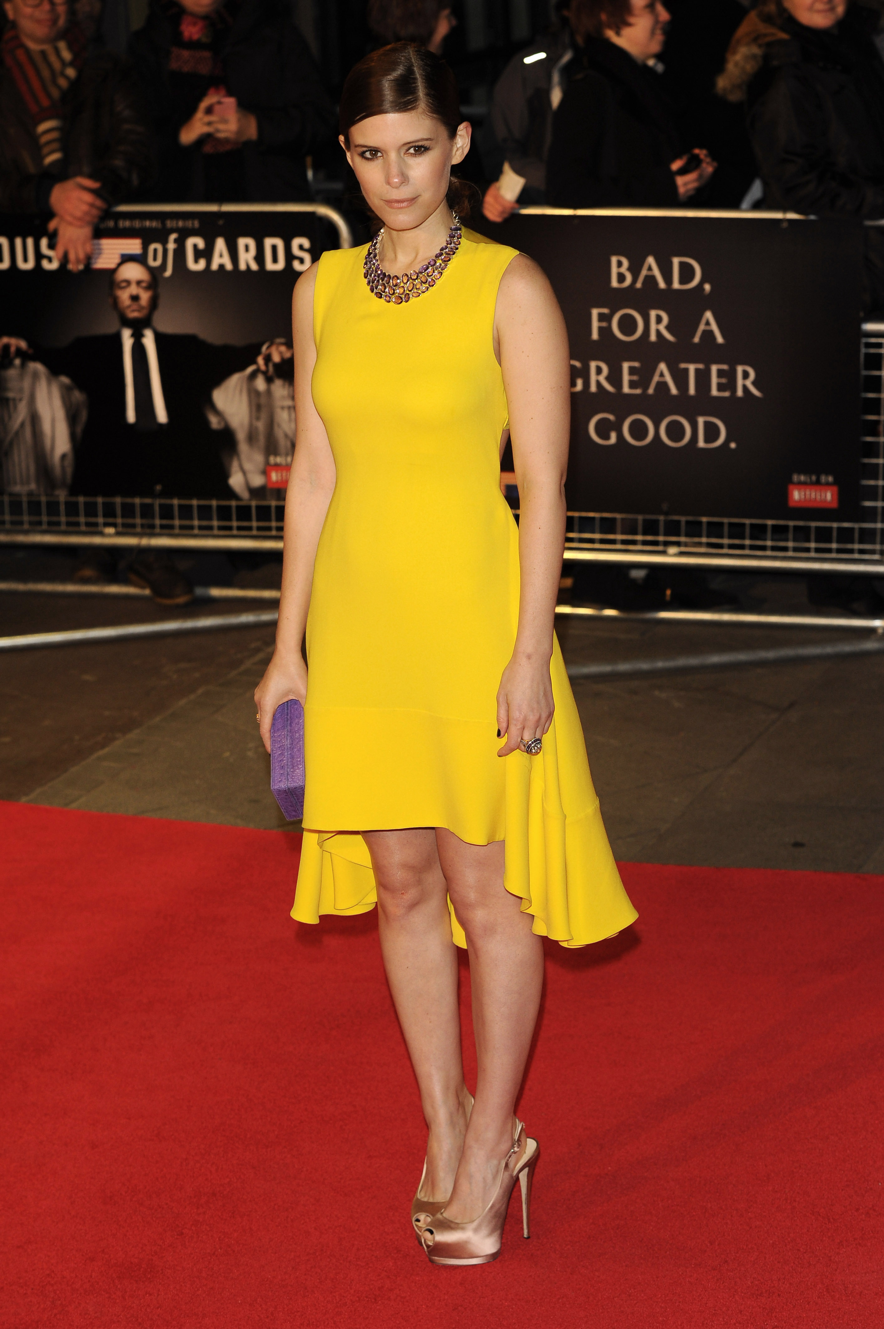 Kate Mara wearing yellow