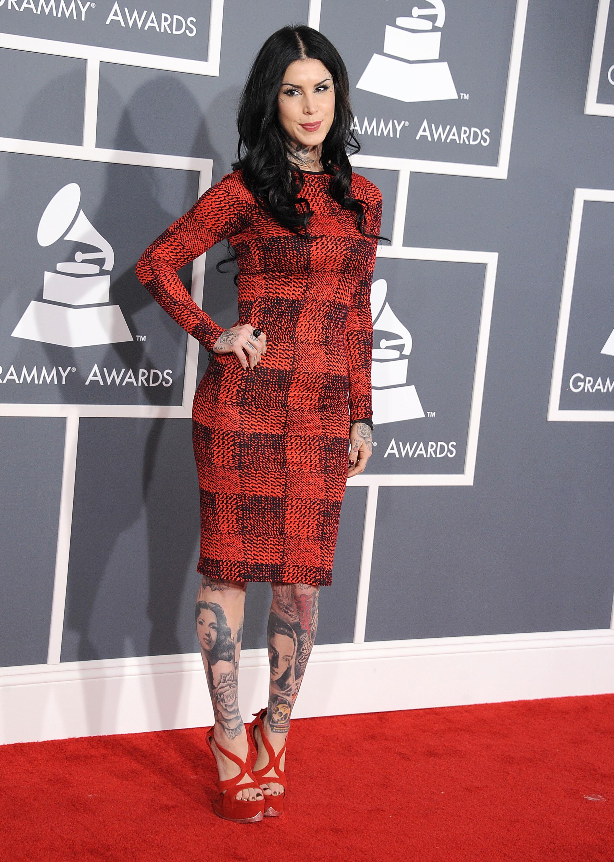 Kat Von D K Stew red and black derek lam plaid dress