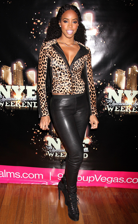 Kelly Rowland Khloe Kardashian leopard ALC jacket