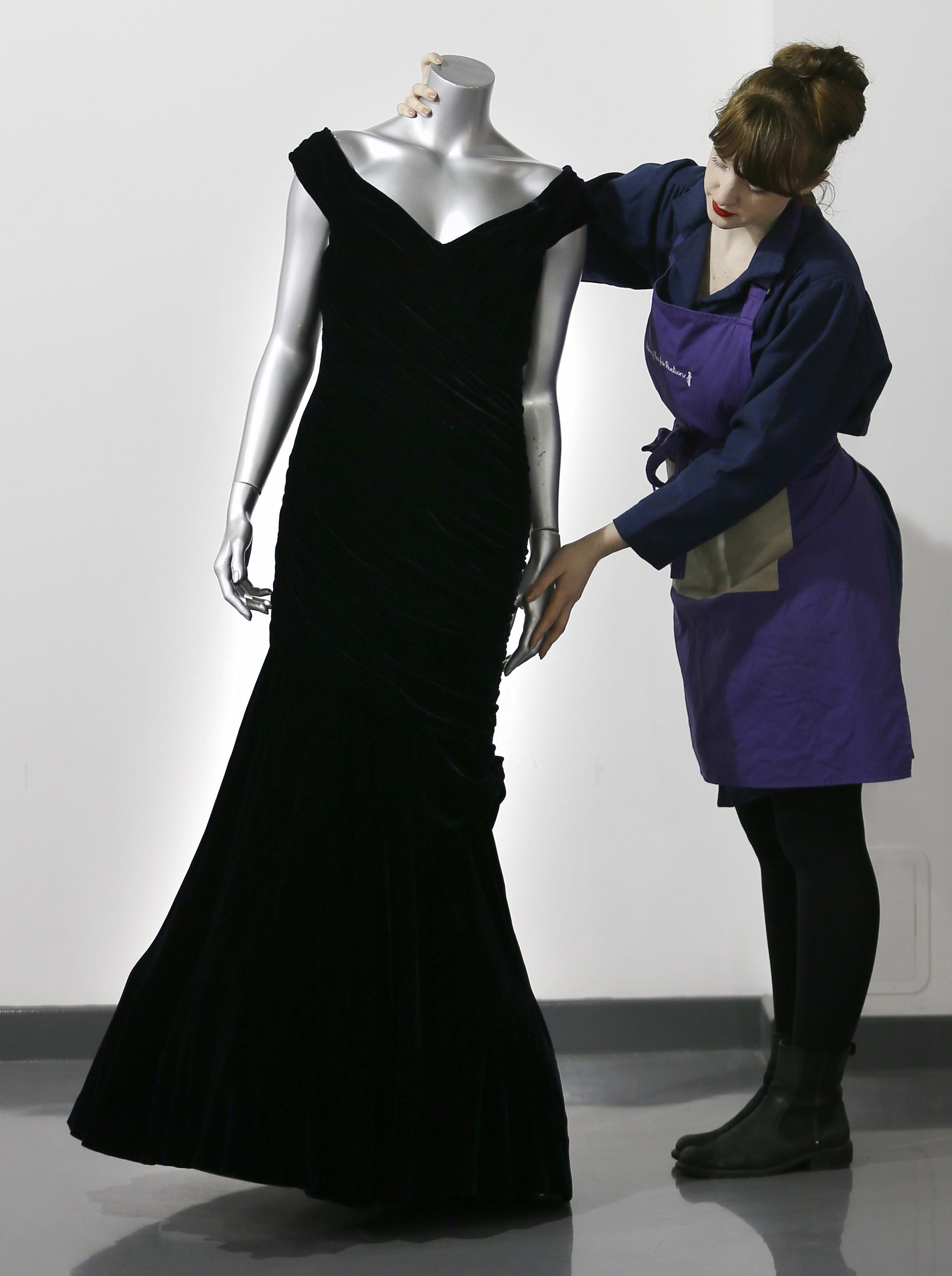 princess diana auction dresses fetch uk london john travolta