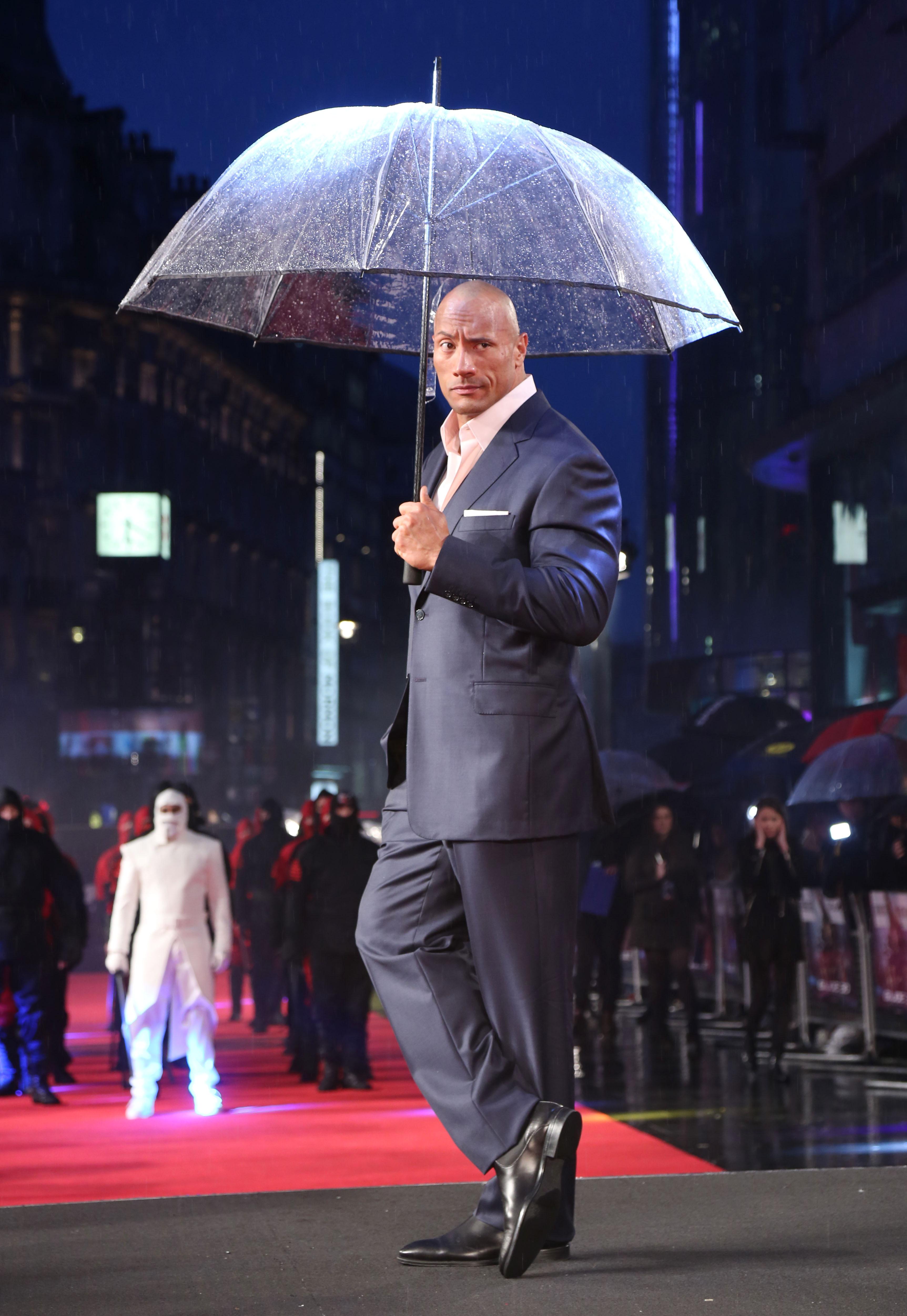 Dwayne Johnson GI Joe: Retaliation rain umbrella