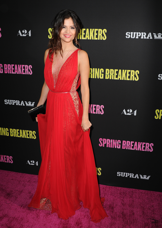 Selena Gomez style red carpet