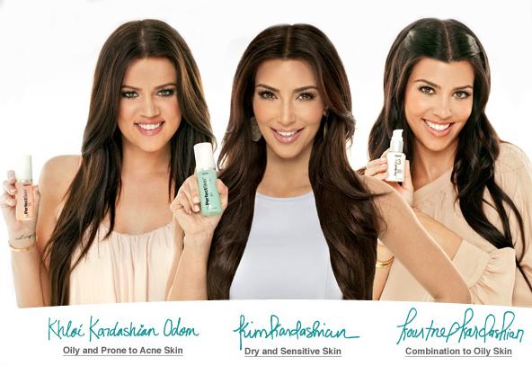 kim kourtney khloe kardashian perfect skin