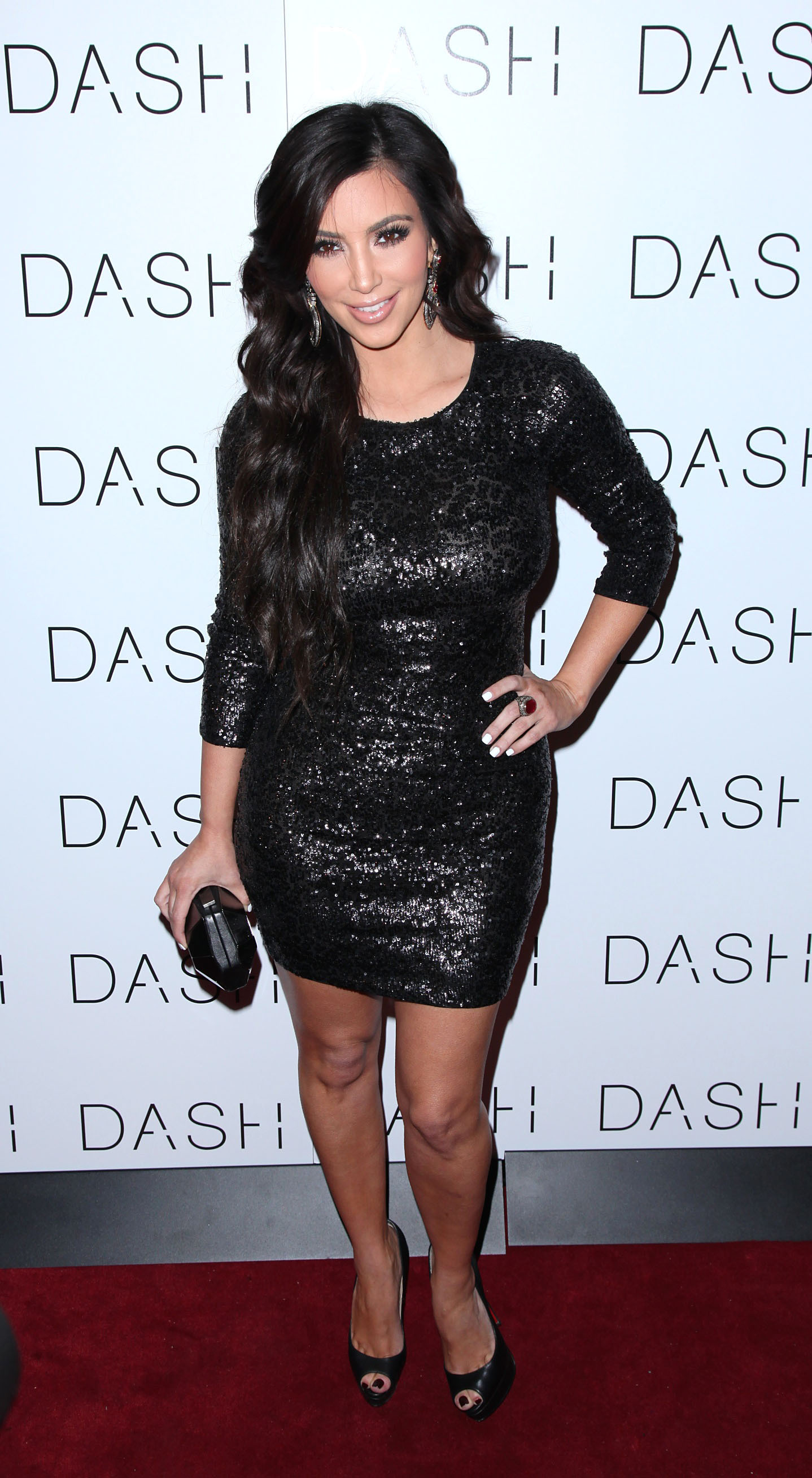 Kim Kardashian DASH black dress