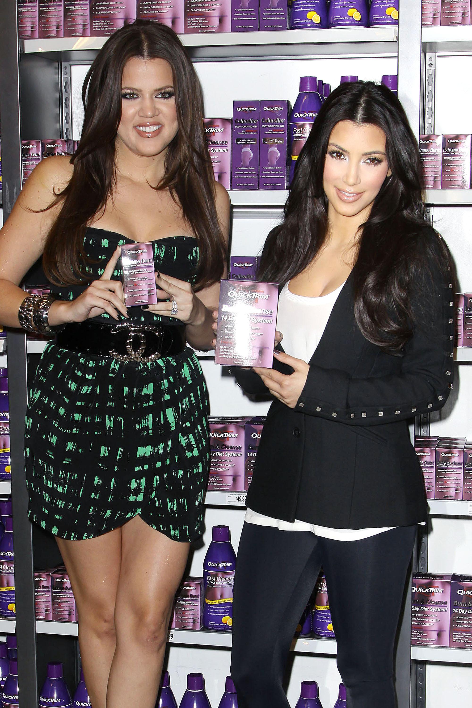 Kim KArdashian khloe kardashian quicktrim