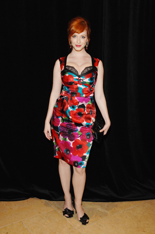 Christina Hendricks floral dress