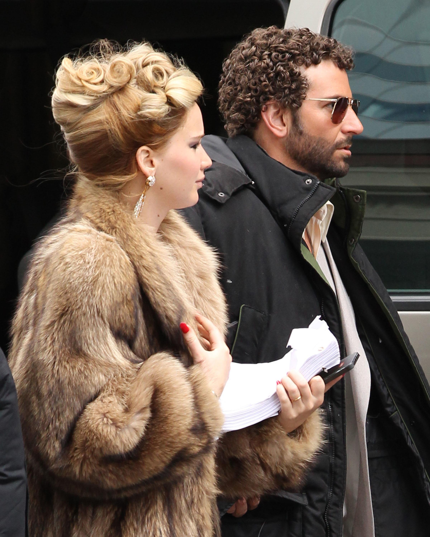 Bradley Cooper Jennifer Lawrence curly hair perm