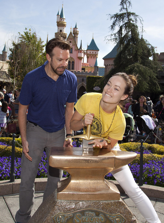 Olivia Wilde and Jason Sudeikis Disneyland