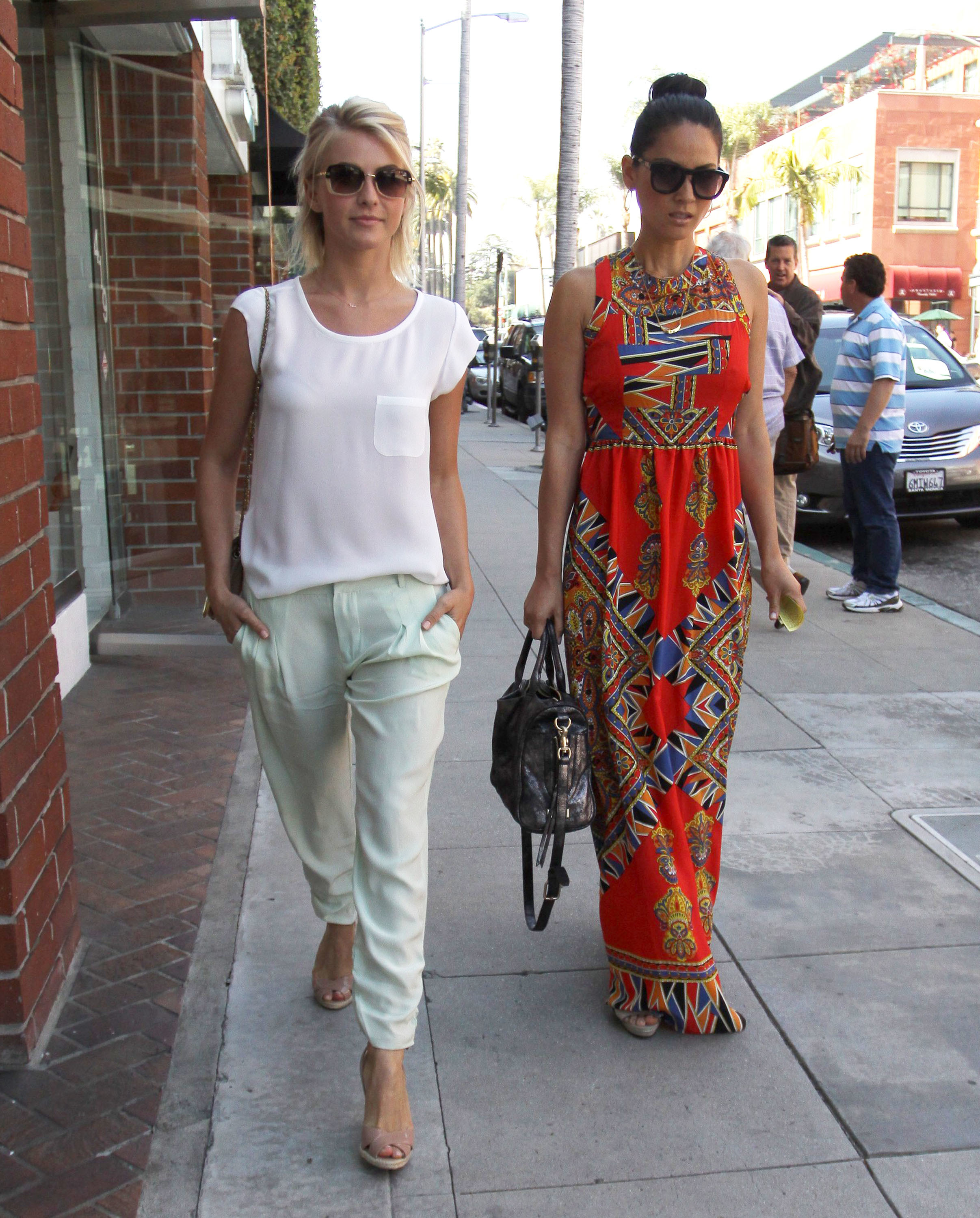 olivia munn julianne hough nails mani pedi beverly hills friends besties