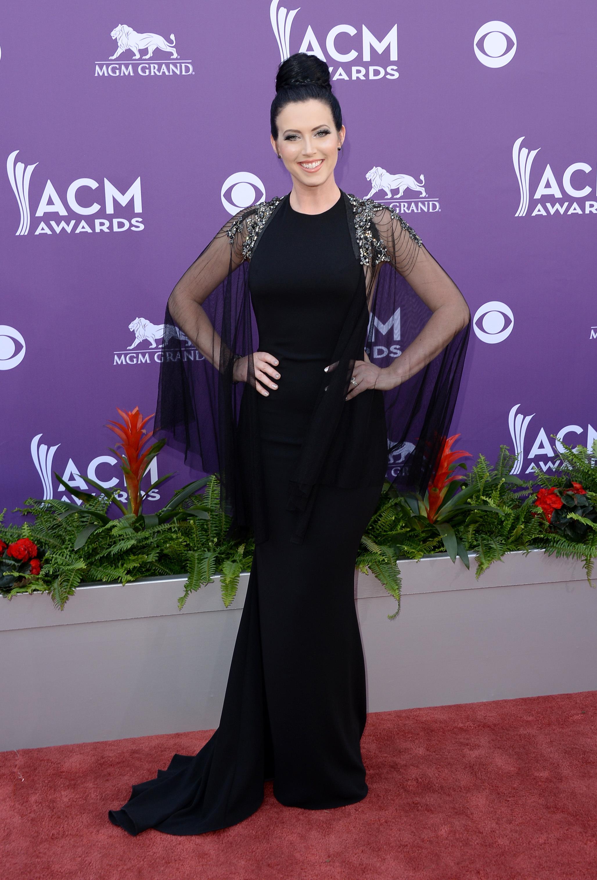 Shawna Thompson black dress 2013 ACM awards