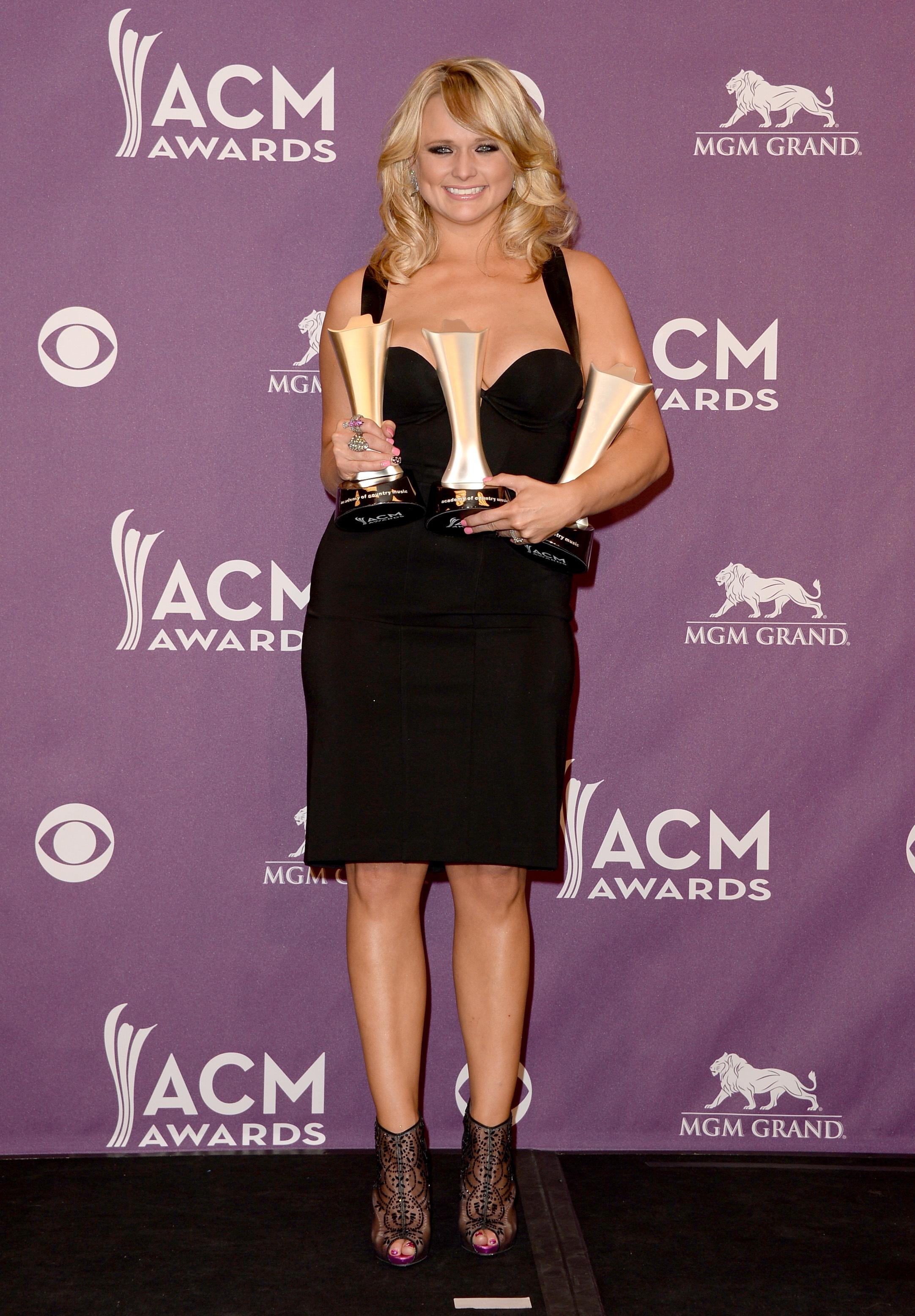Miranda Lambert black dress 2013 ACM awards