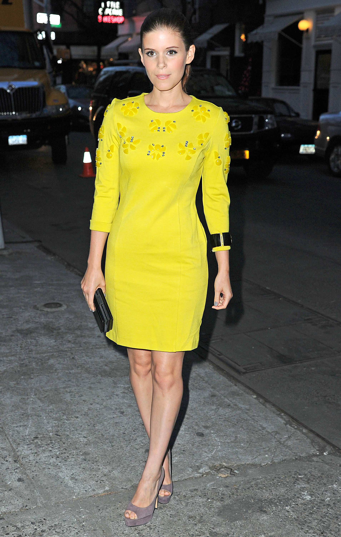 Kate Mara yellow dress