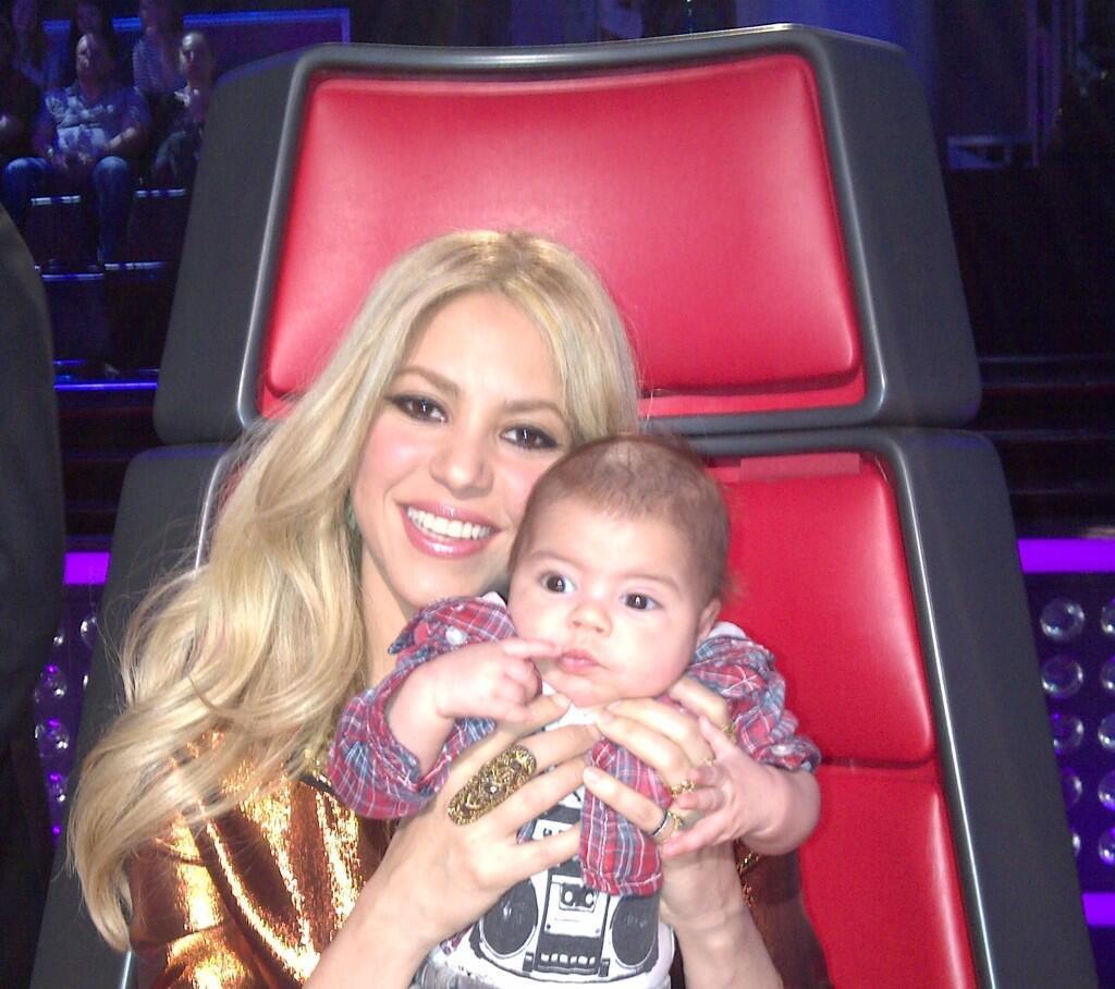 shakira family milan the voice milan baby son gerard pique twitter