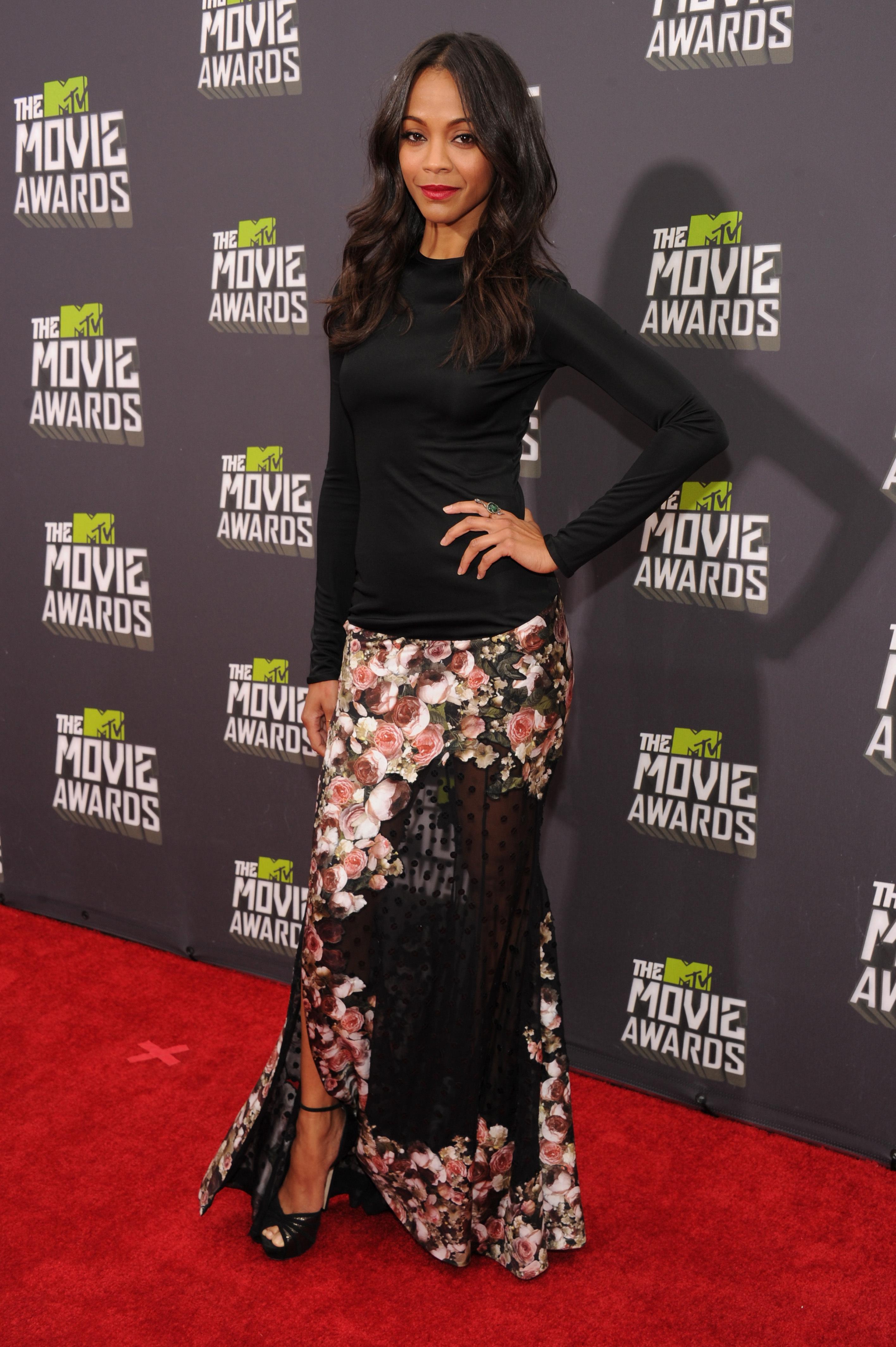 Zoe Saldana Givenchy 2013 mtv movie awards