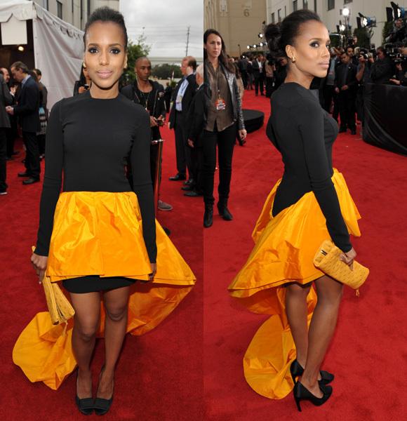 Jerry Washington yellow black michael kors dress 2013 mtv movie awards
