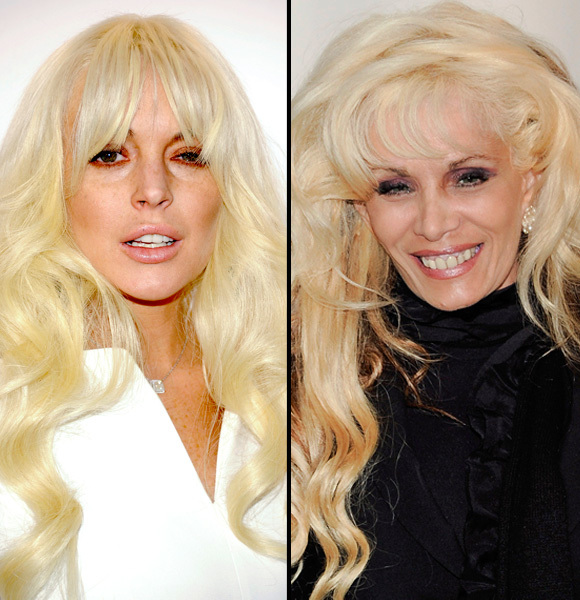 lindsay lohan and victoria gotti look alike celebrities