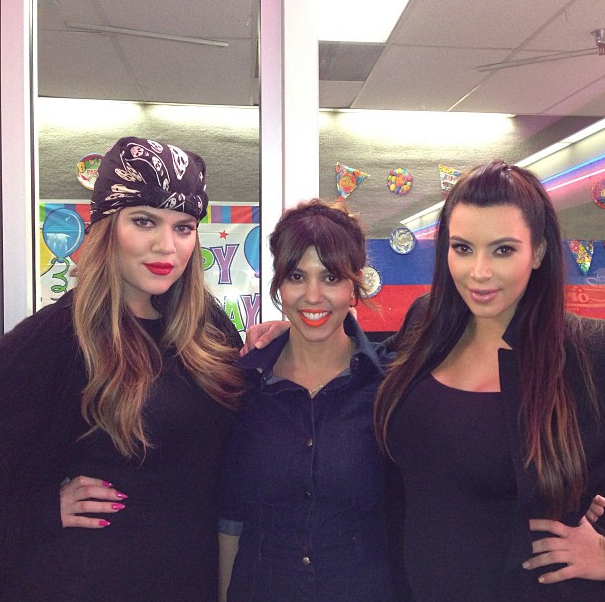 kim kardashian posts pictures from kourtney birthday