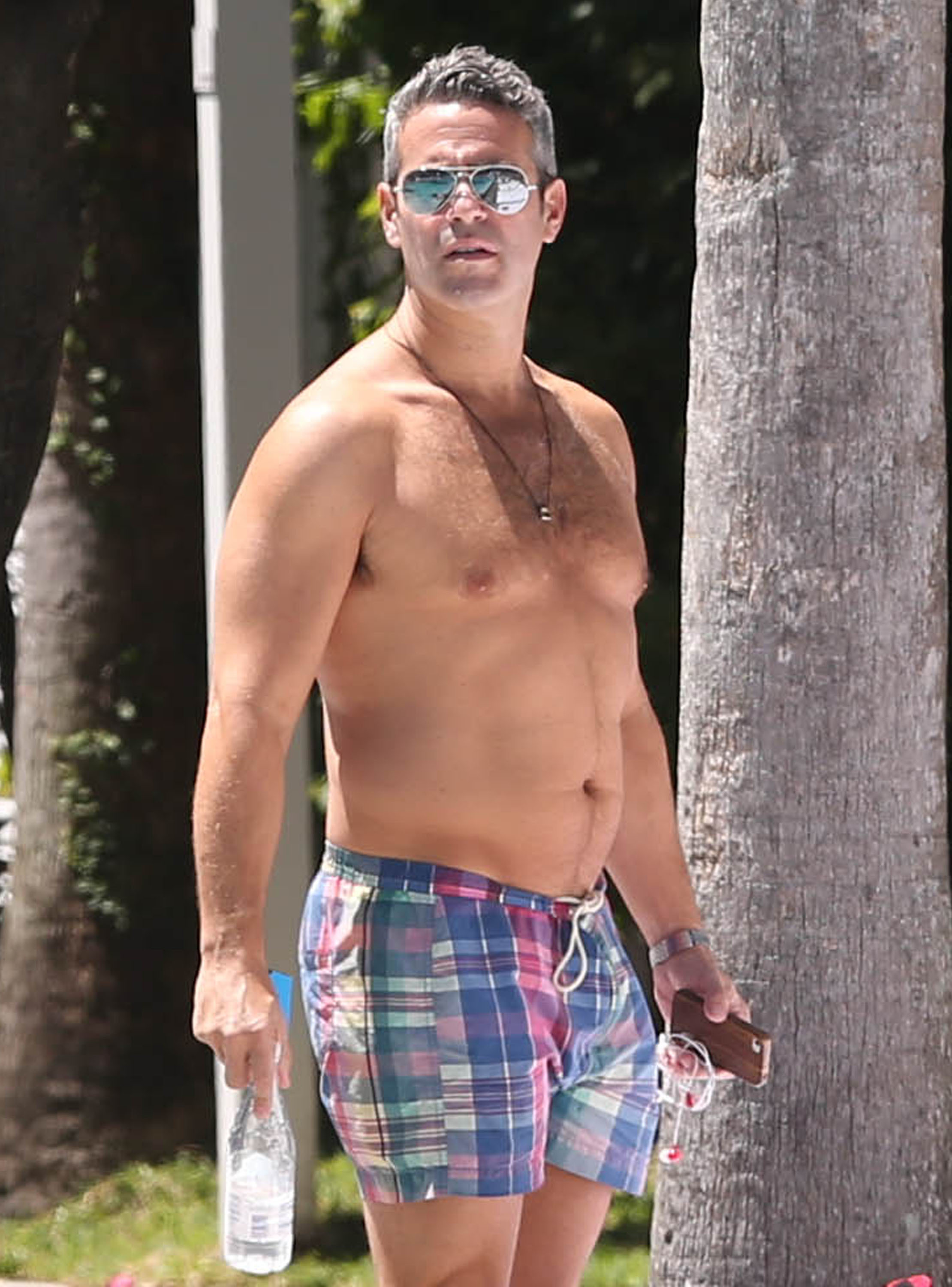 Andy Cohen poolside