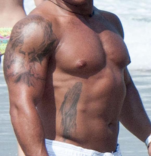 Jersey Shore Ronnie shirtless white shorts beach