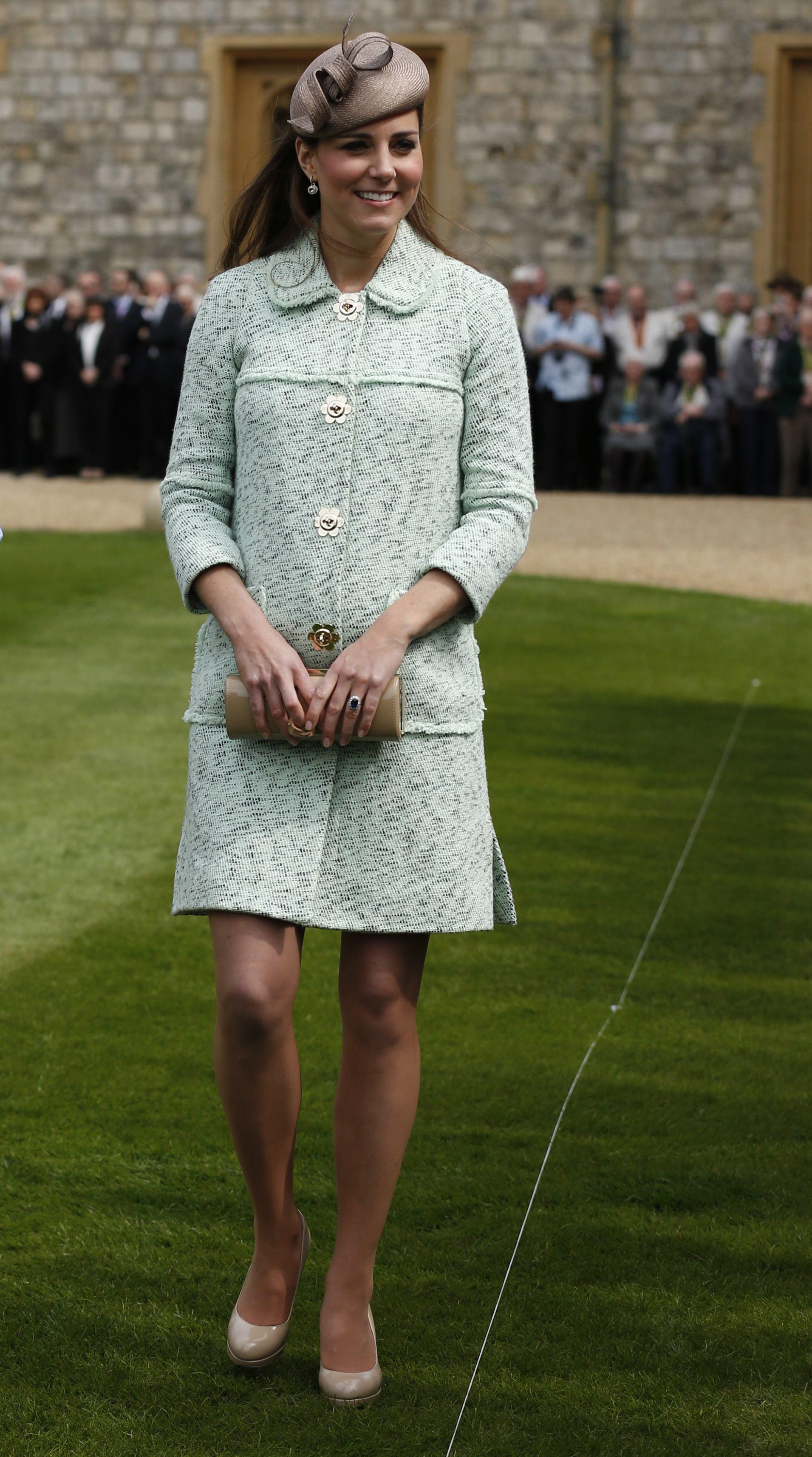 Duchess Kate middleton mint coat