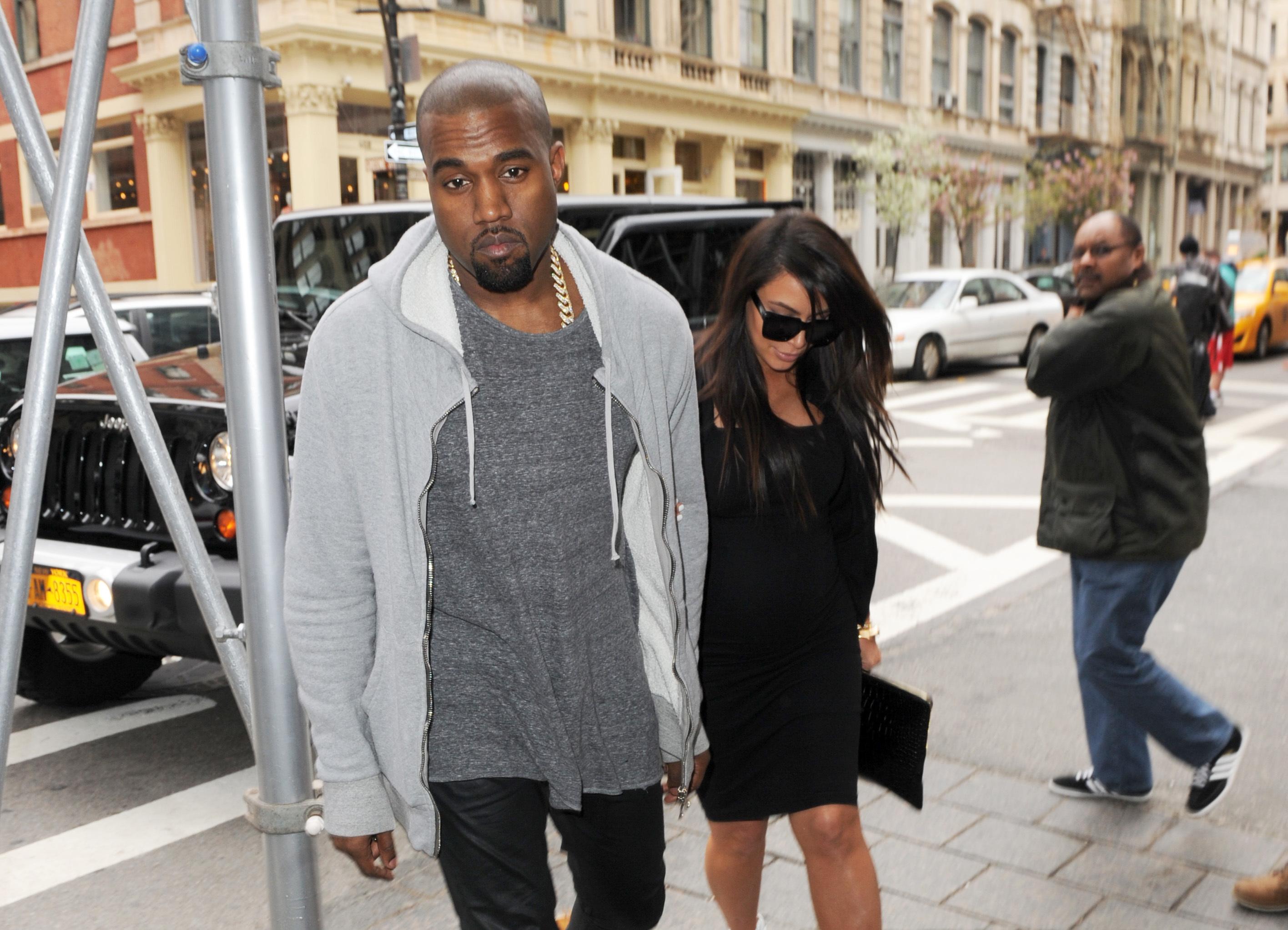Kim Kardashian kanye west step out in new york