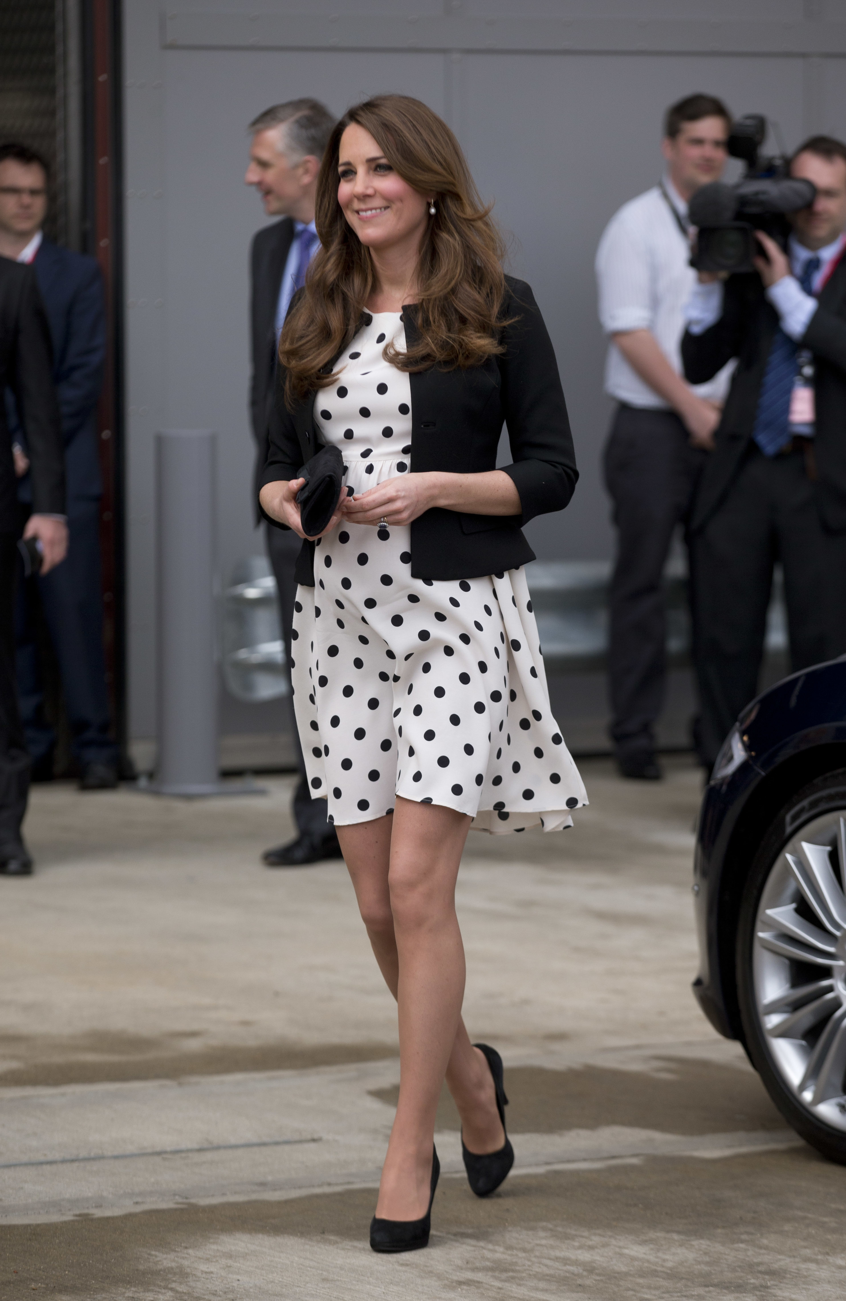 Duchess Kate polka dot dress