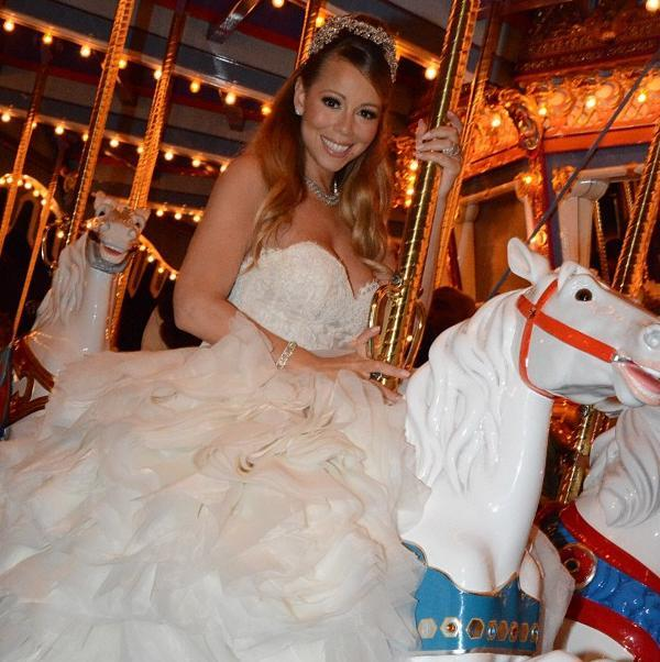 mariah carey white dress