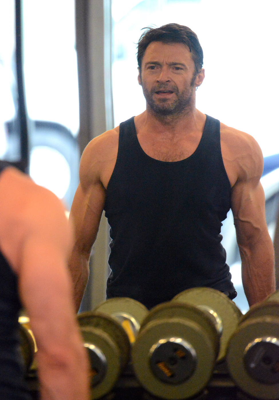 hugh jackman working out