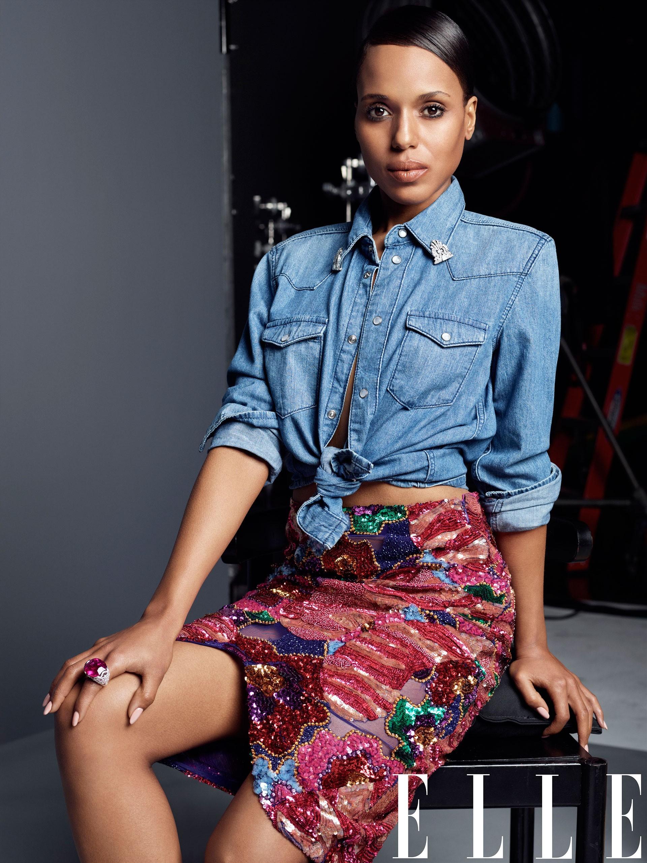 Kerry Washington Elle cover Scandal Django Unchained style fashion