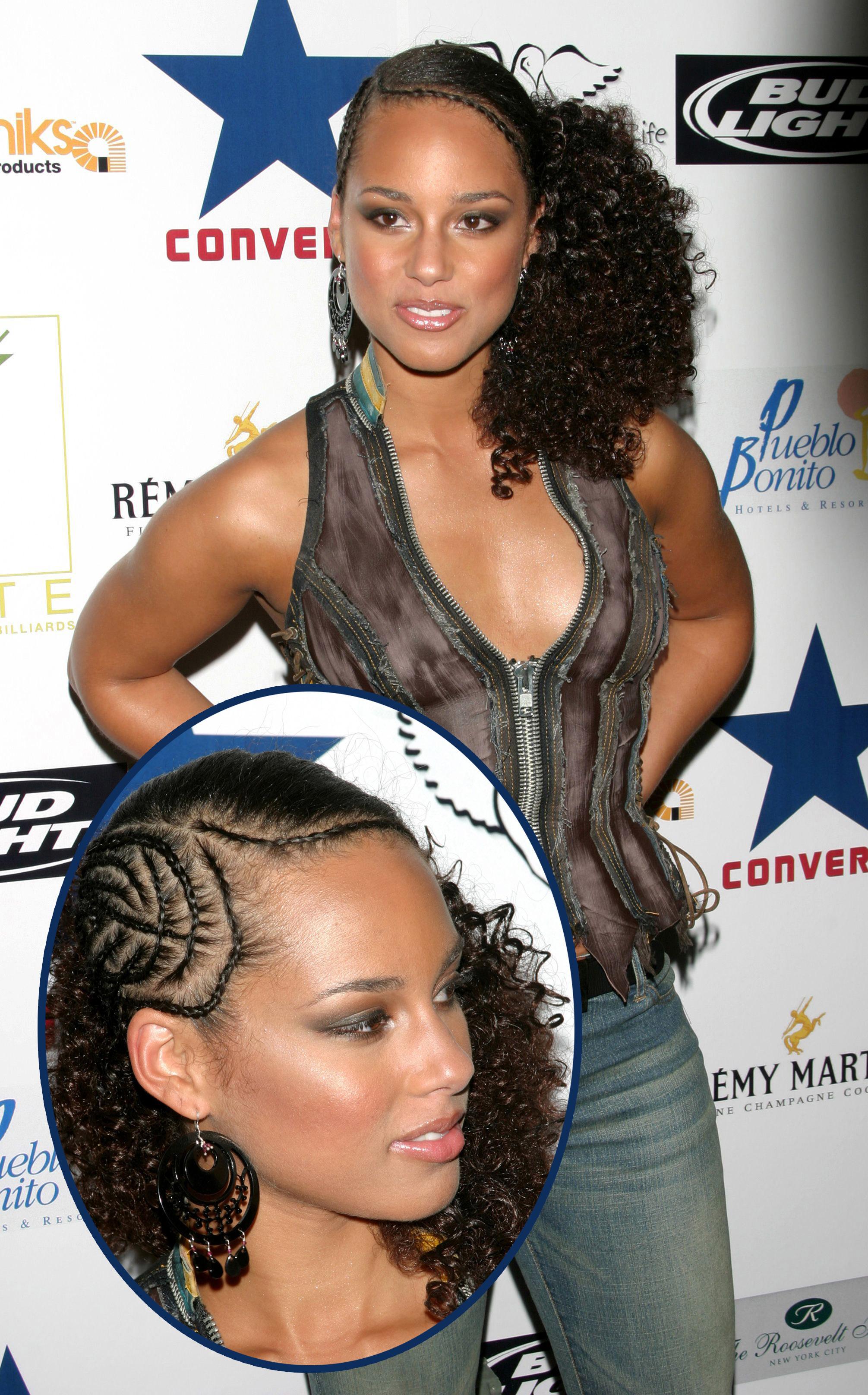 Alicia Keys curls and braids