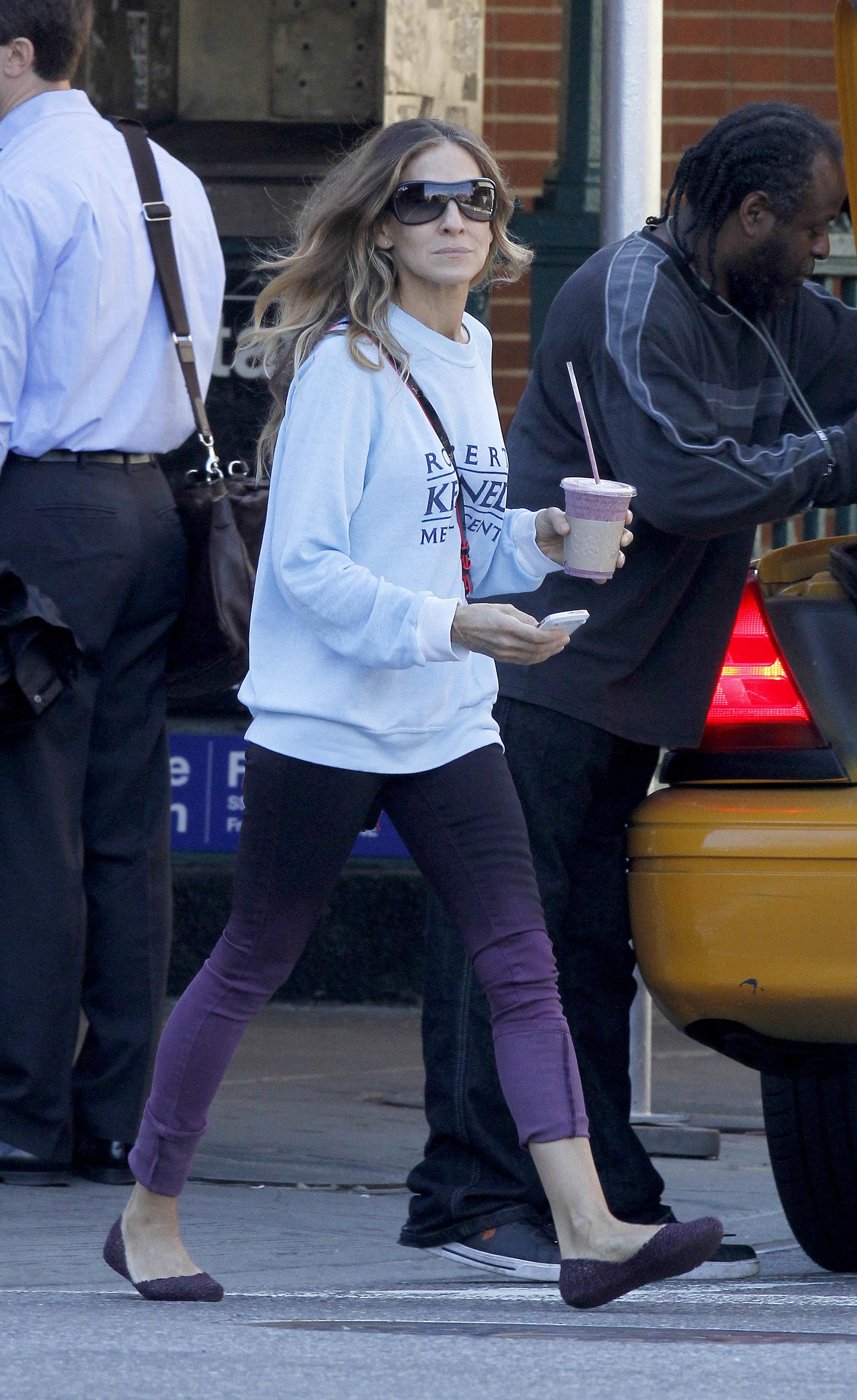 sarah jessica parker trend report purple