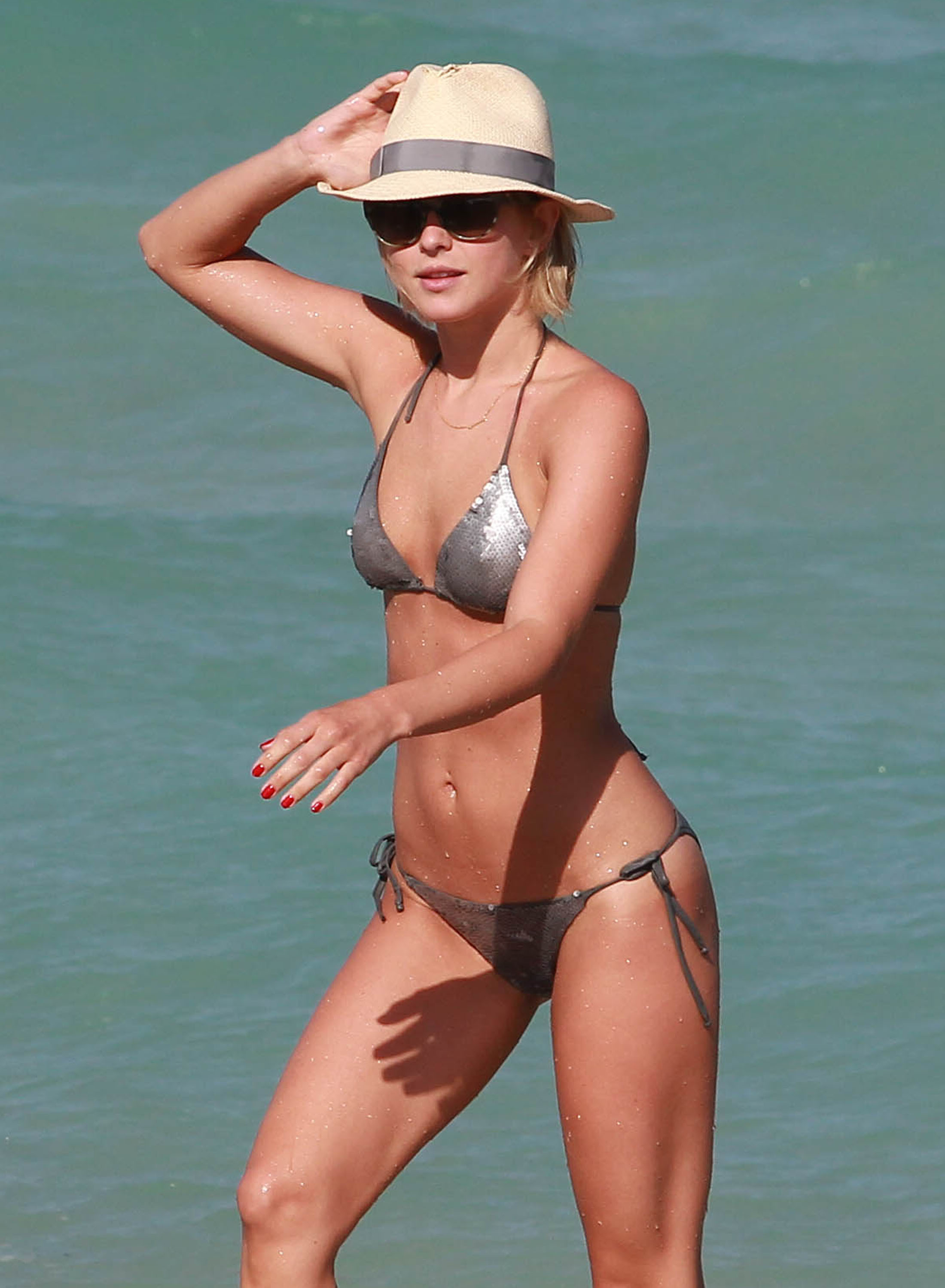 Julianne Hough bikini beach