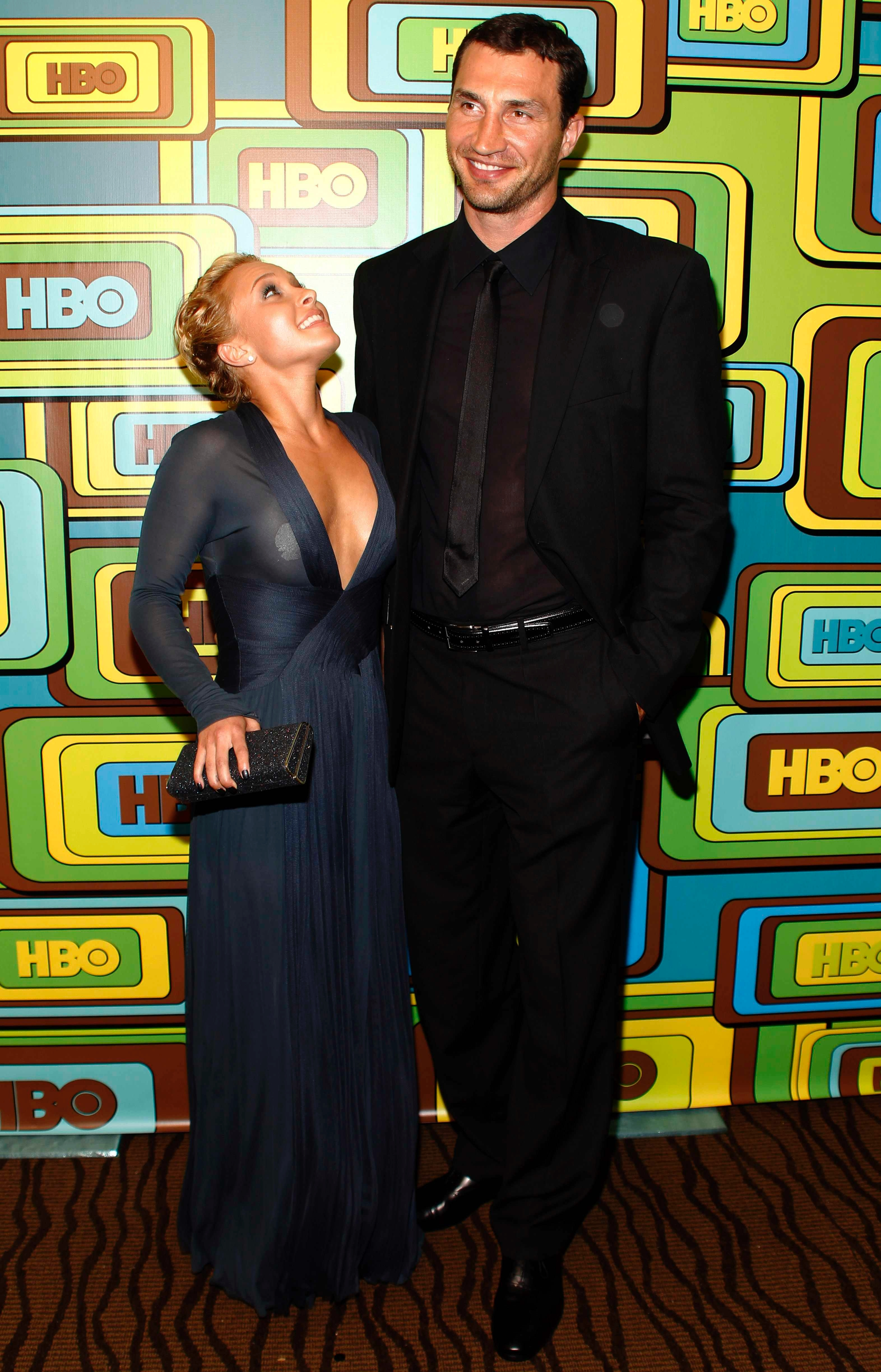 reveal guess the tall celeb guy Hayden Panettiere and Wladimir Klitschko