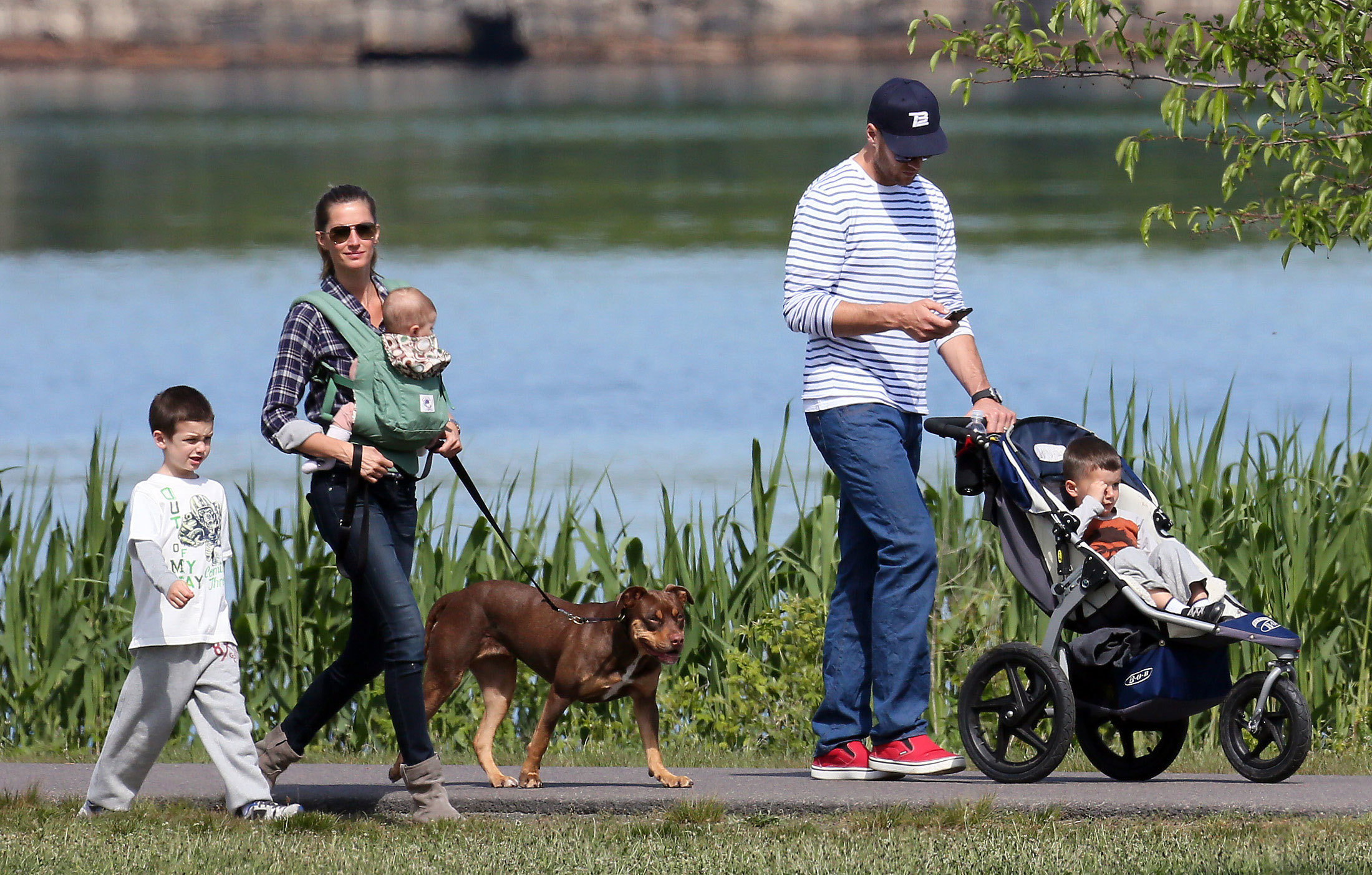 Gisele Bundchen and Tom Brady out and about