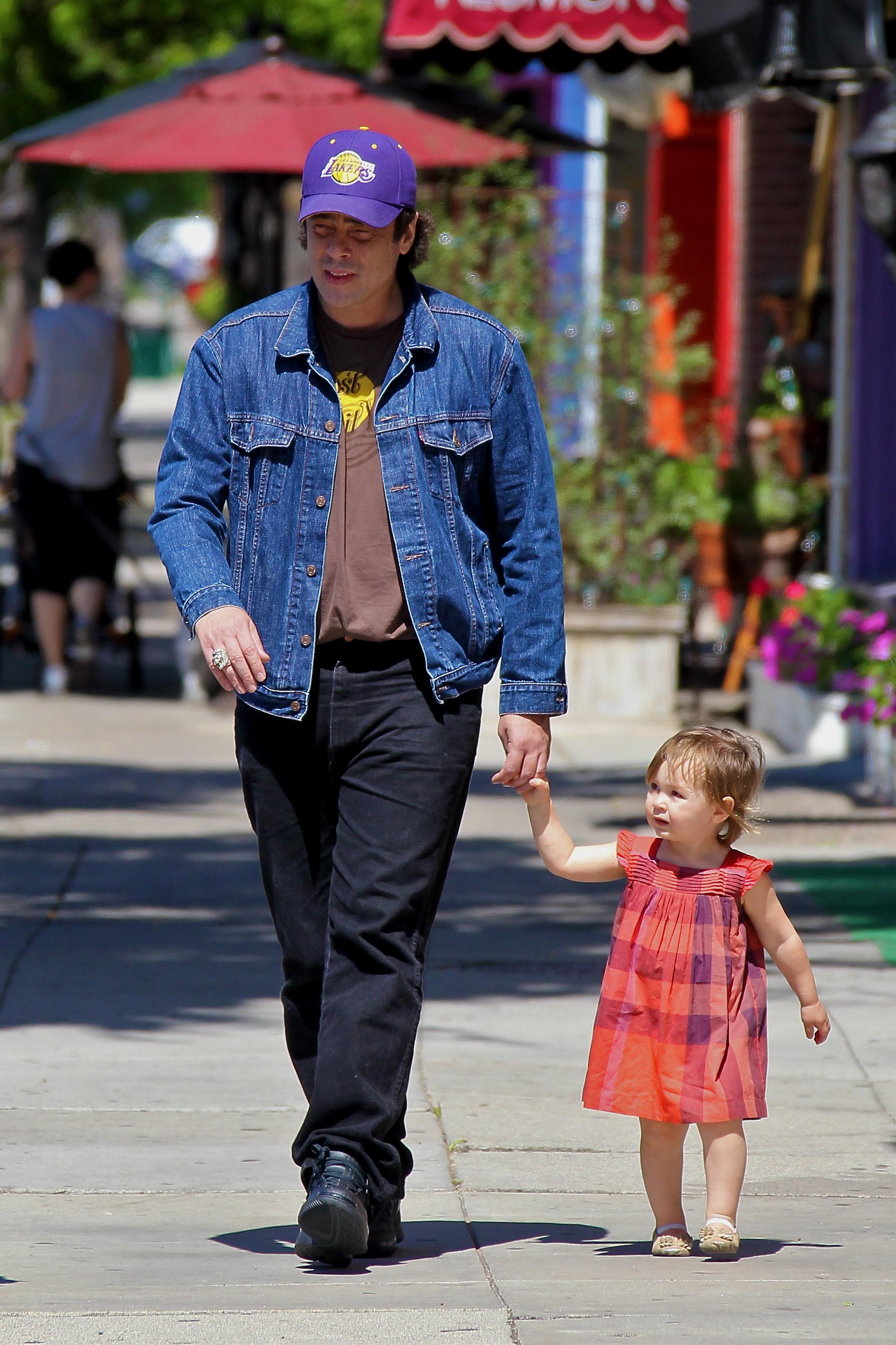 Benicio del Toro out and about