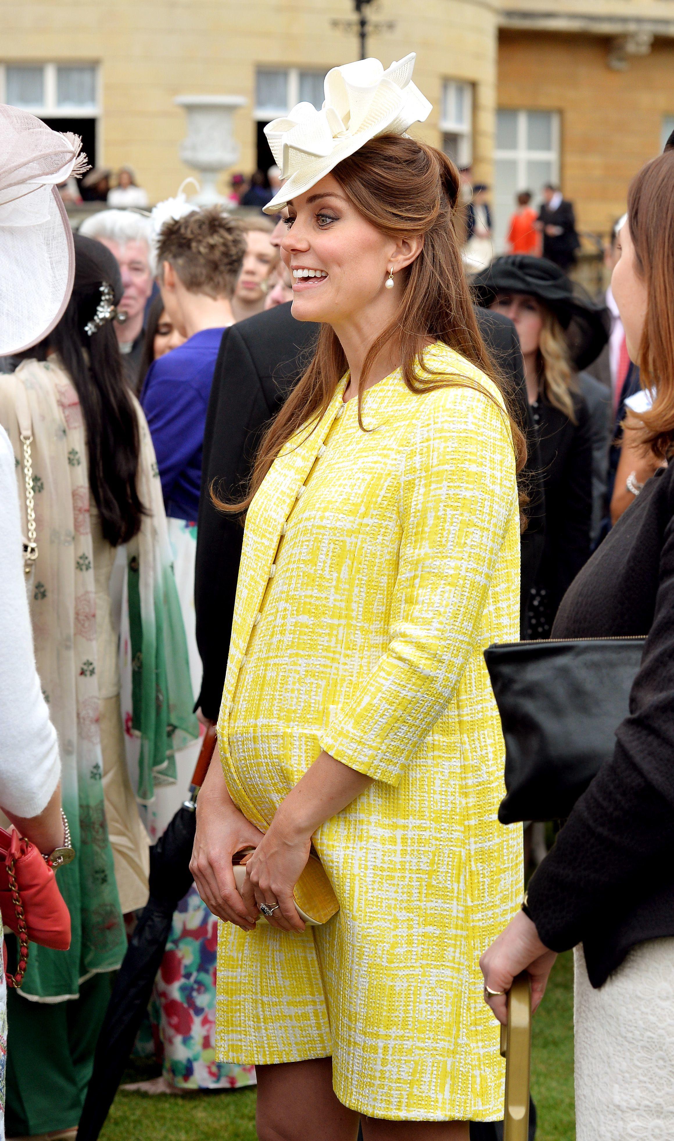 Kate MIddleton yellow coat Emilia Wickstead