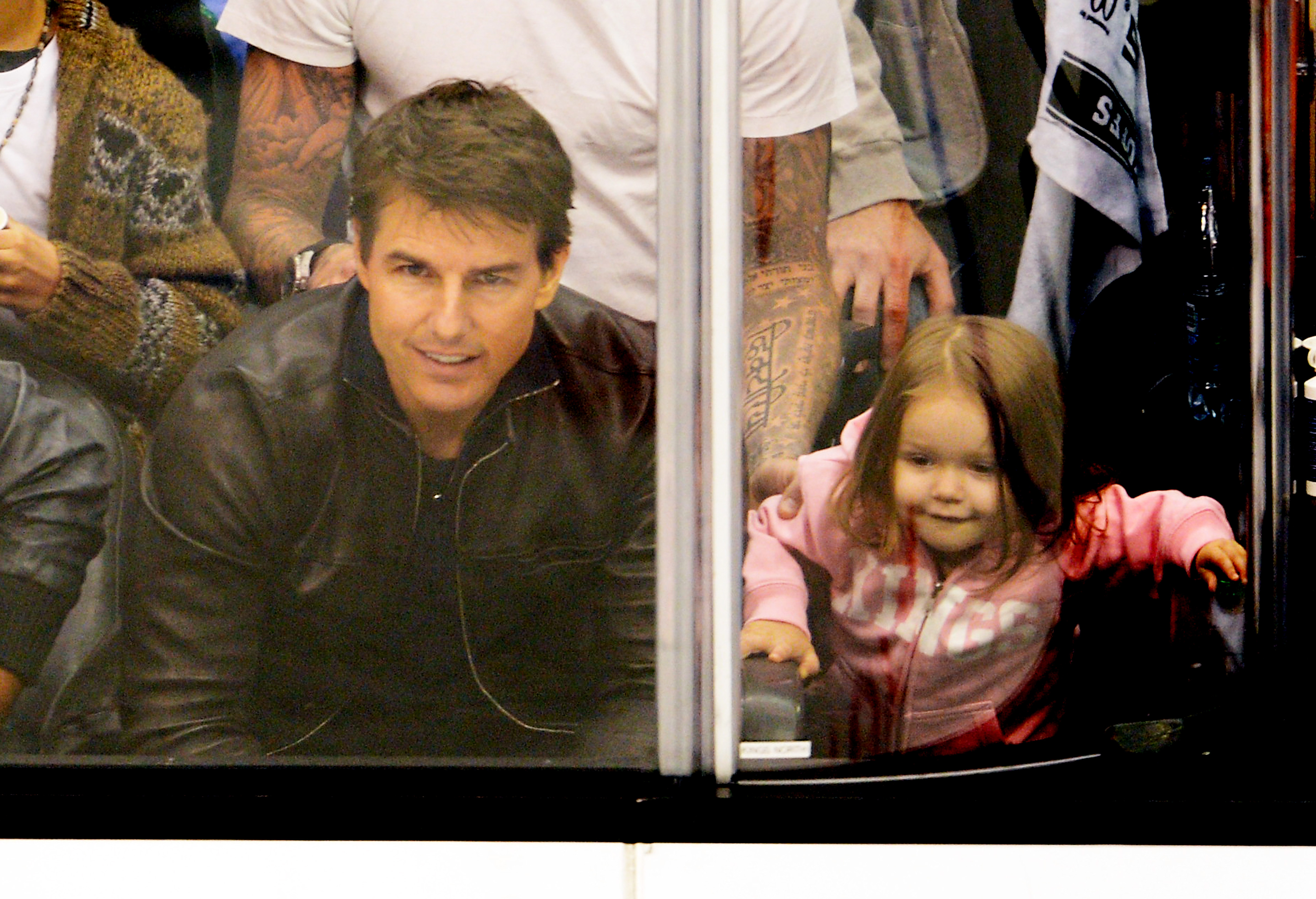 Tom Cruise and Katie Holmes one year after the split