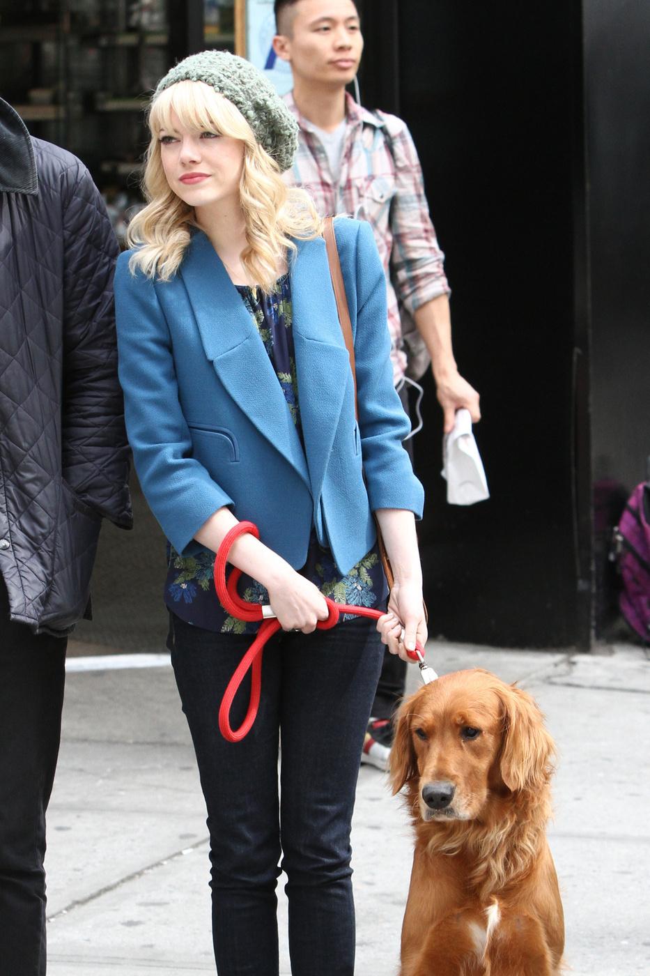 Emma Stone dog