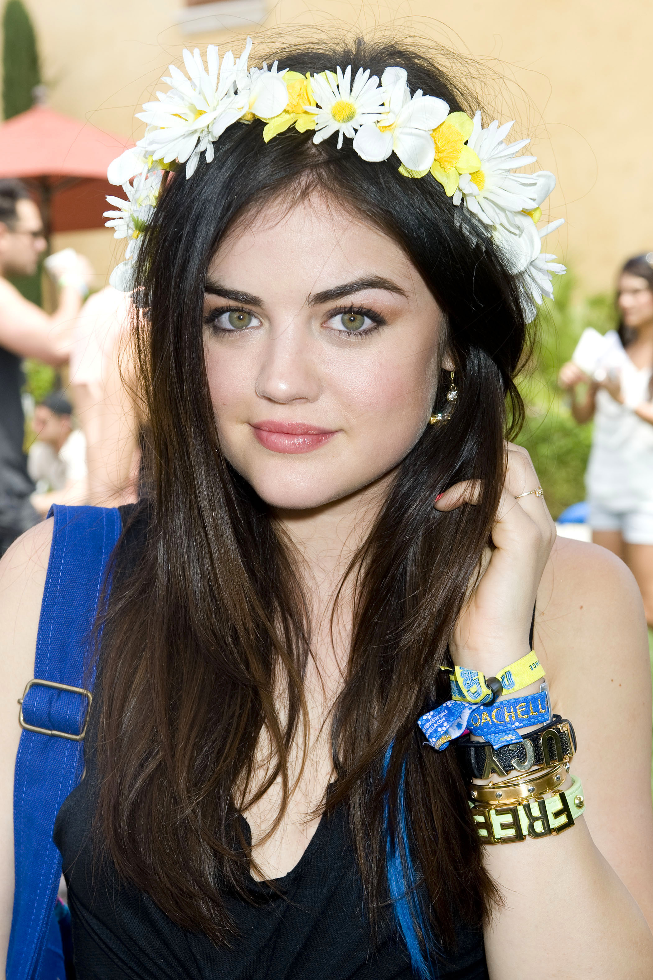 Lucy Hale floral wreath