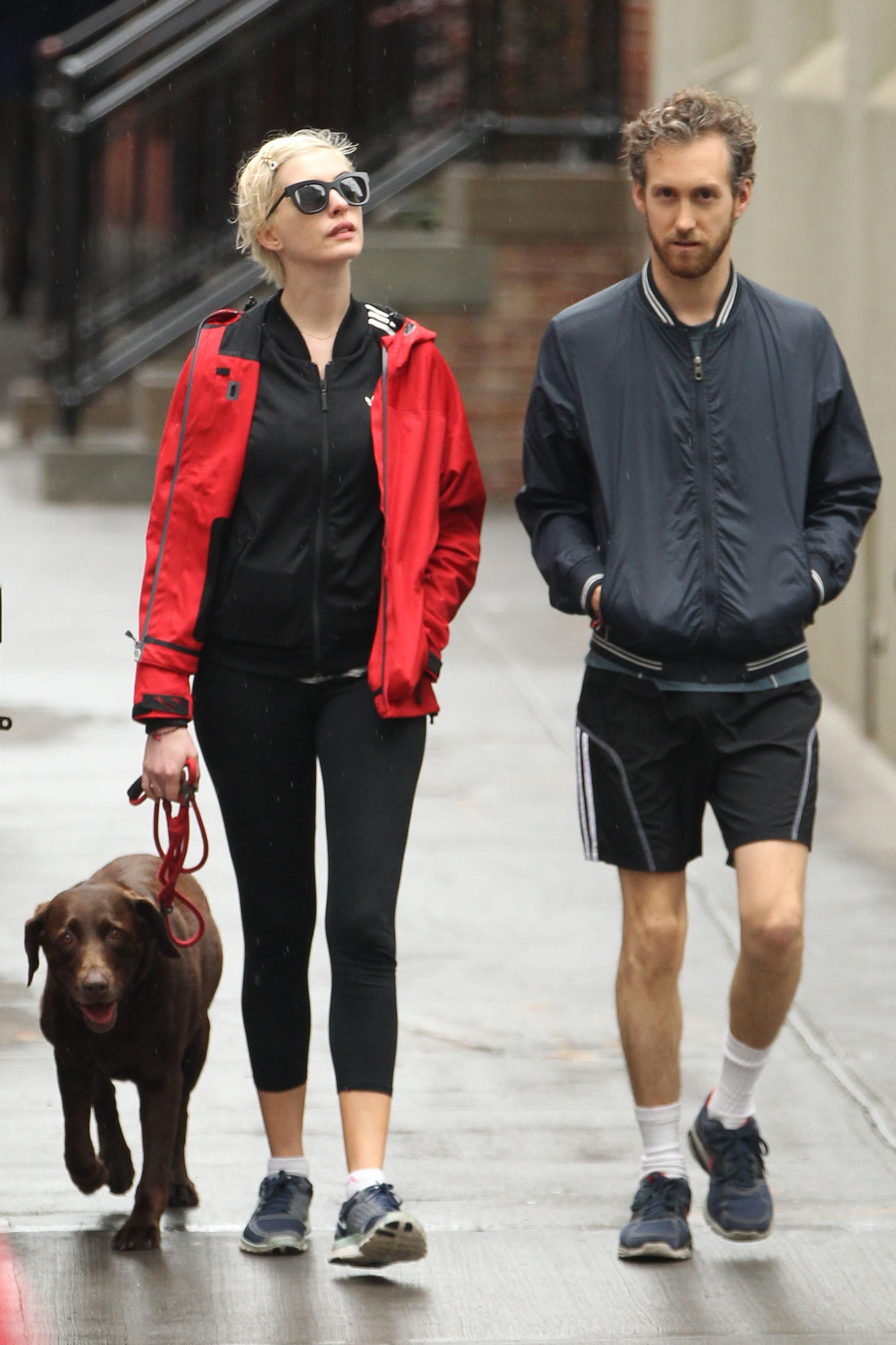 Anne Hathaway dog