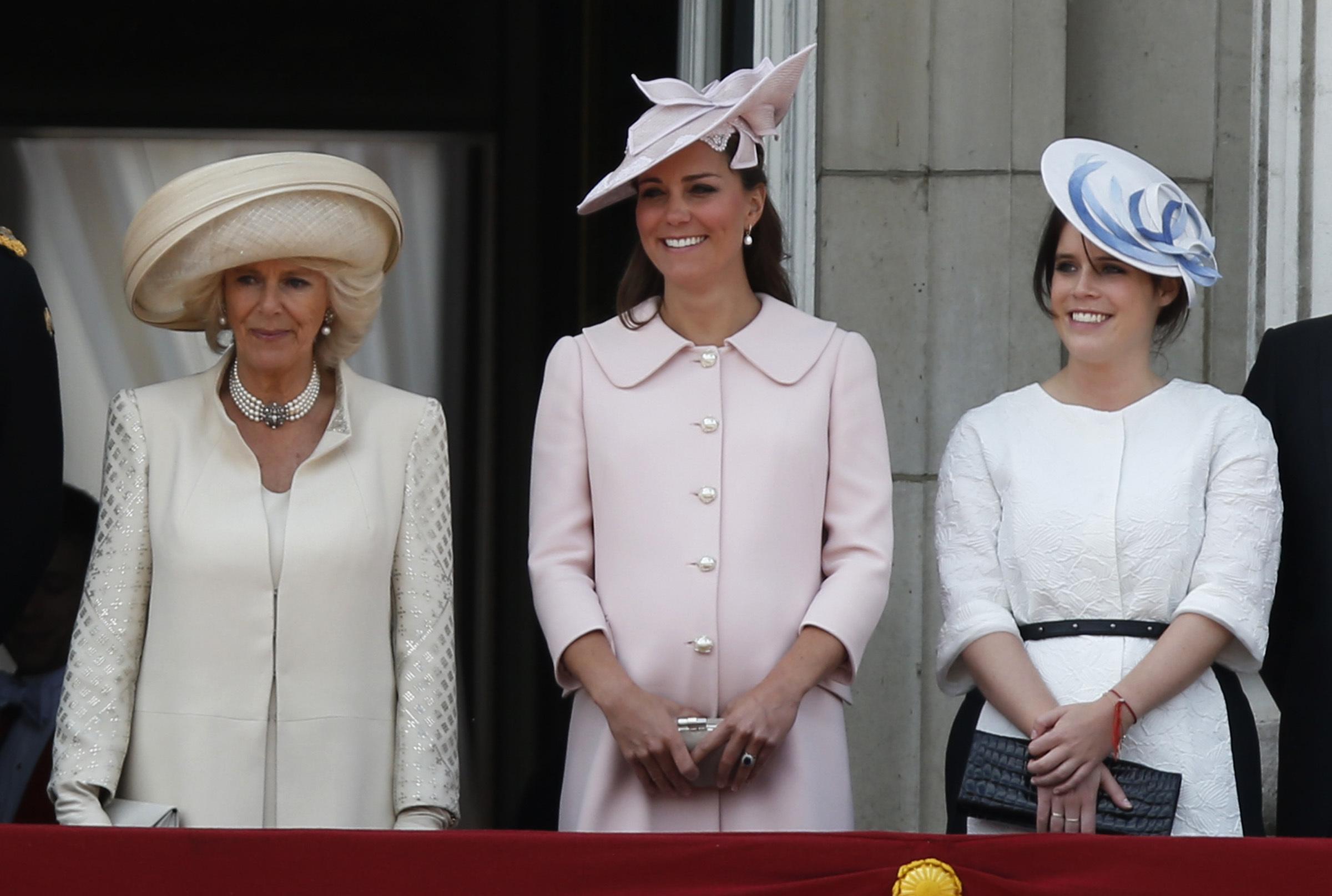 Duchess Kate Middleton pale pink Alexander McQueen coat