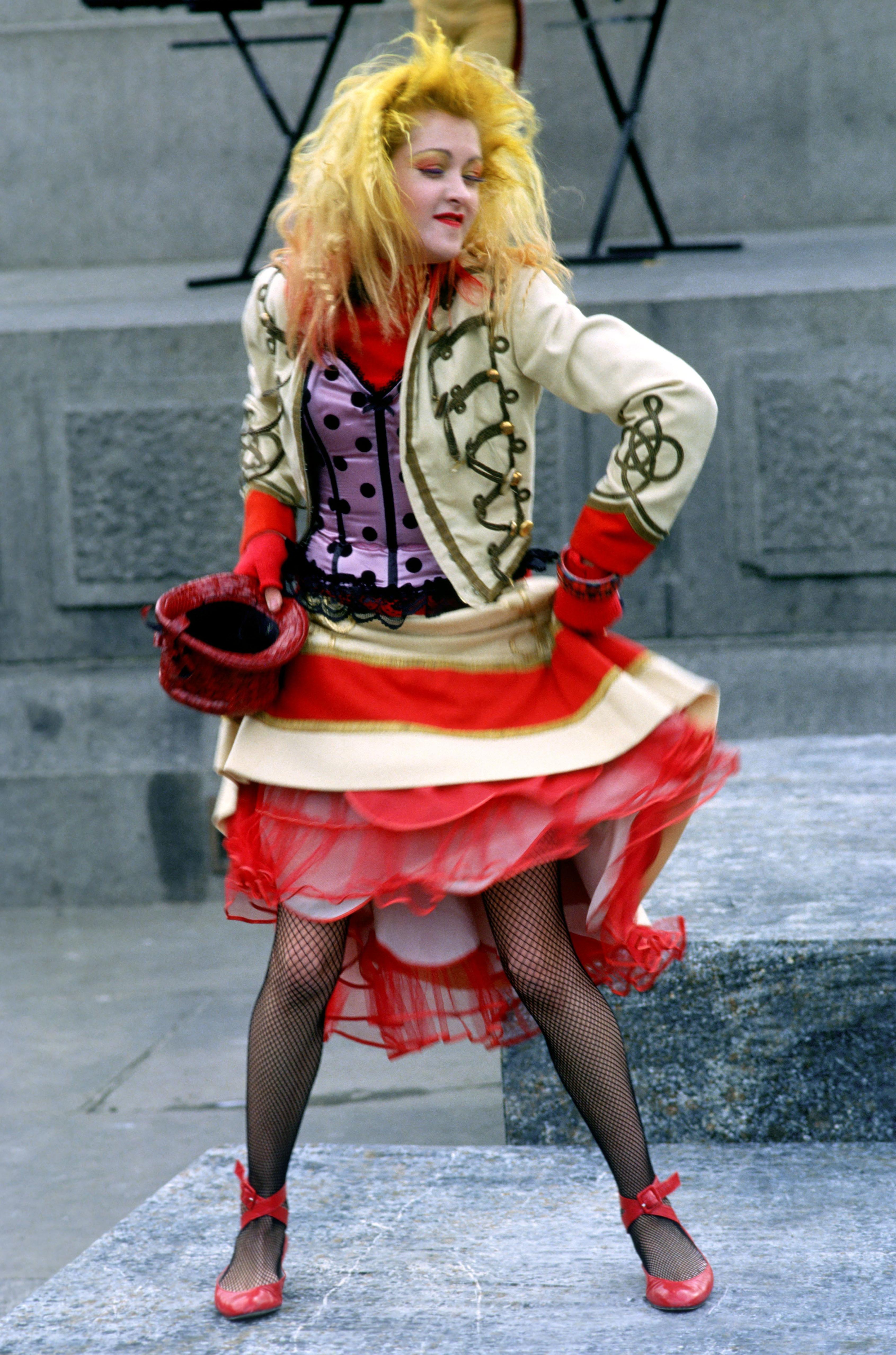 Cyndi Lauper circus yellow hair