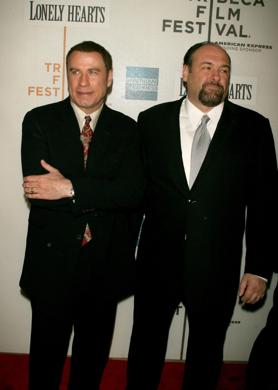 "John Travolta and James Gandolfini at ""Lonely Hearts"" screening"