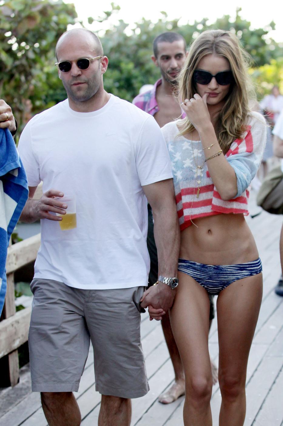 Rosie Huntington Whiteley flag bikini