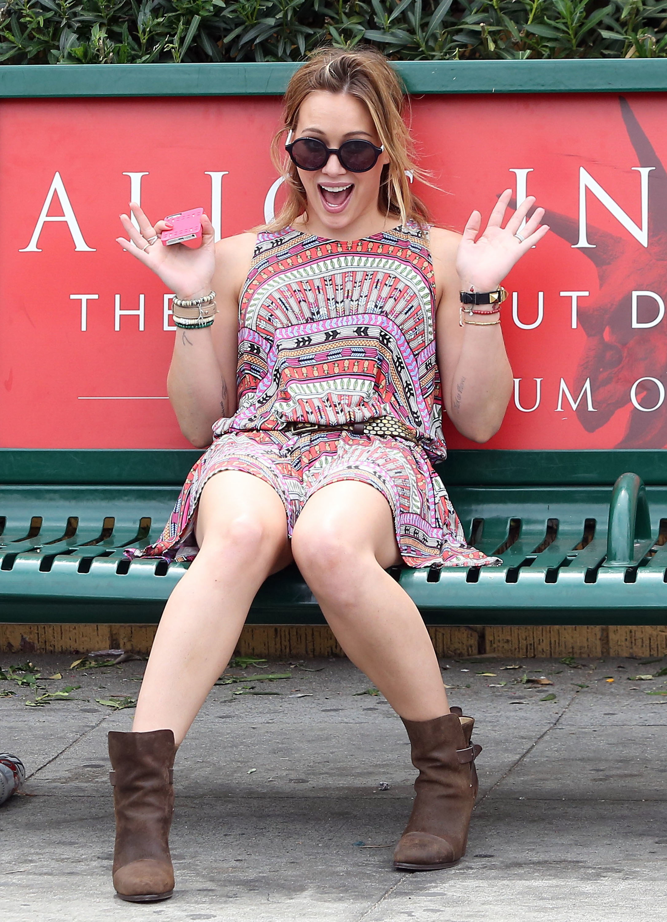 hilary duff excited