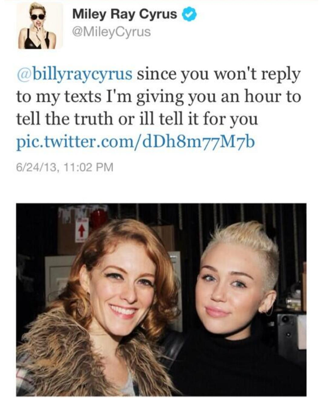 Miely Cyrus twitter