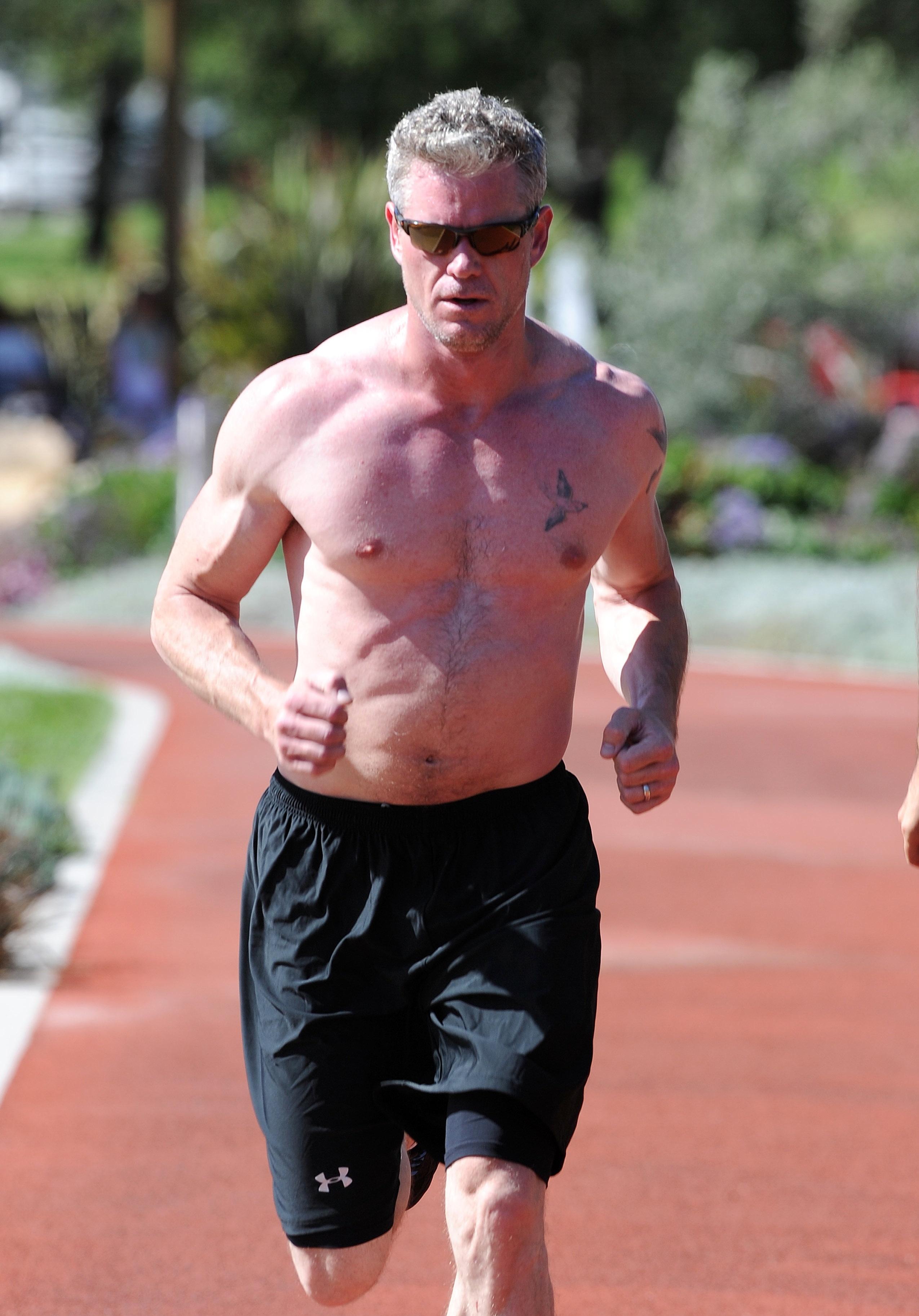 Eric Dane running