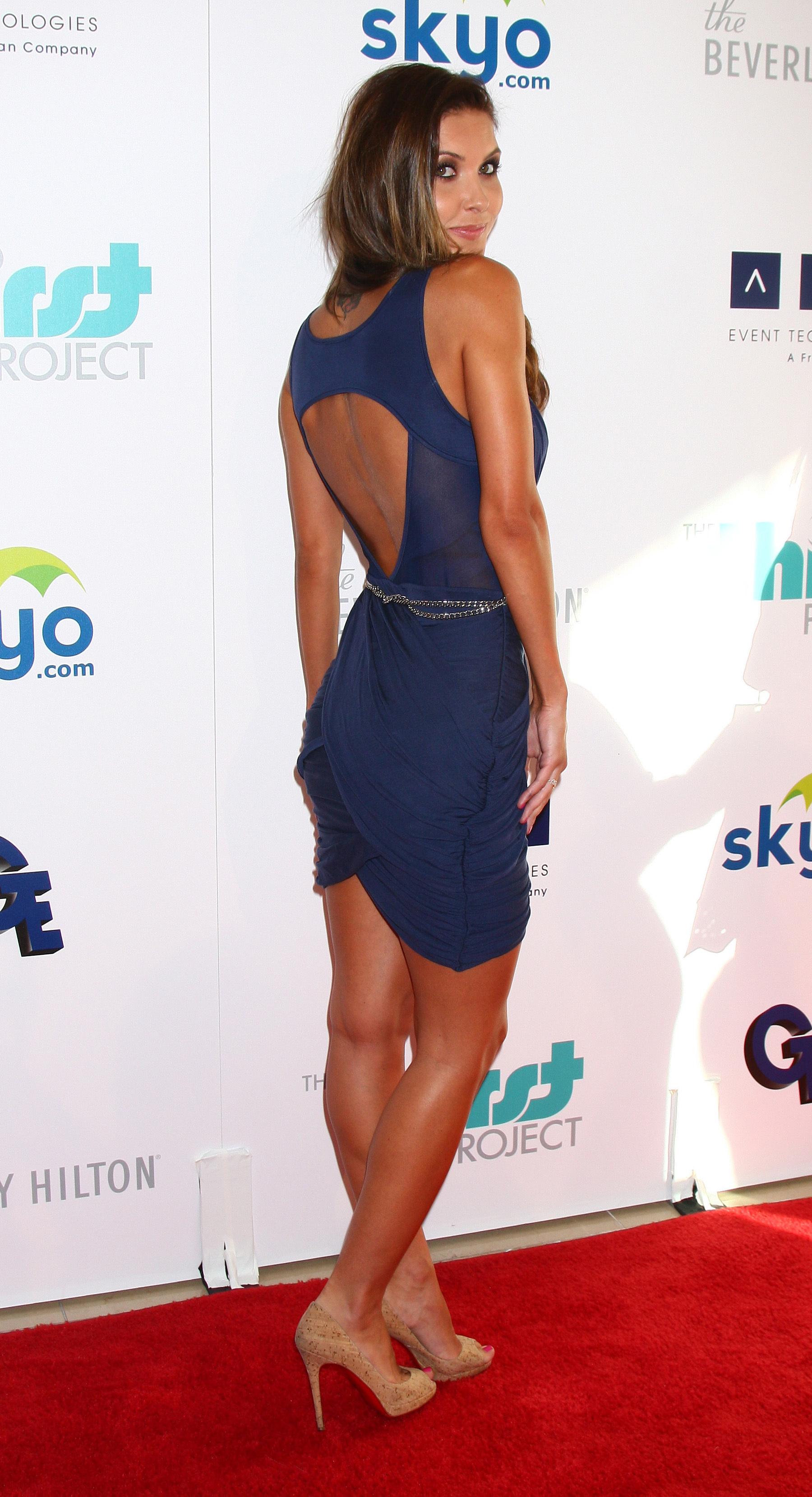 Audrina Patridge blue dress